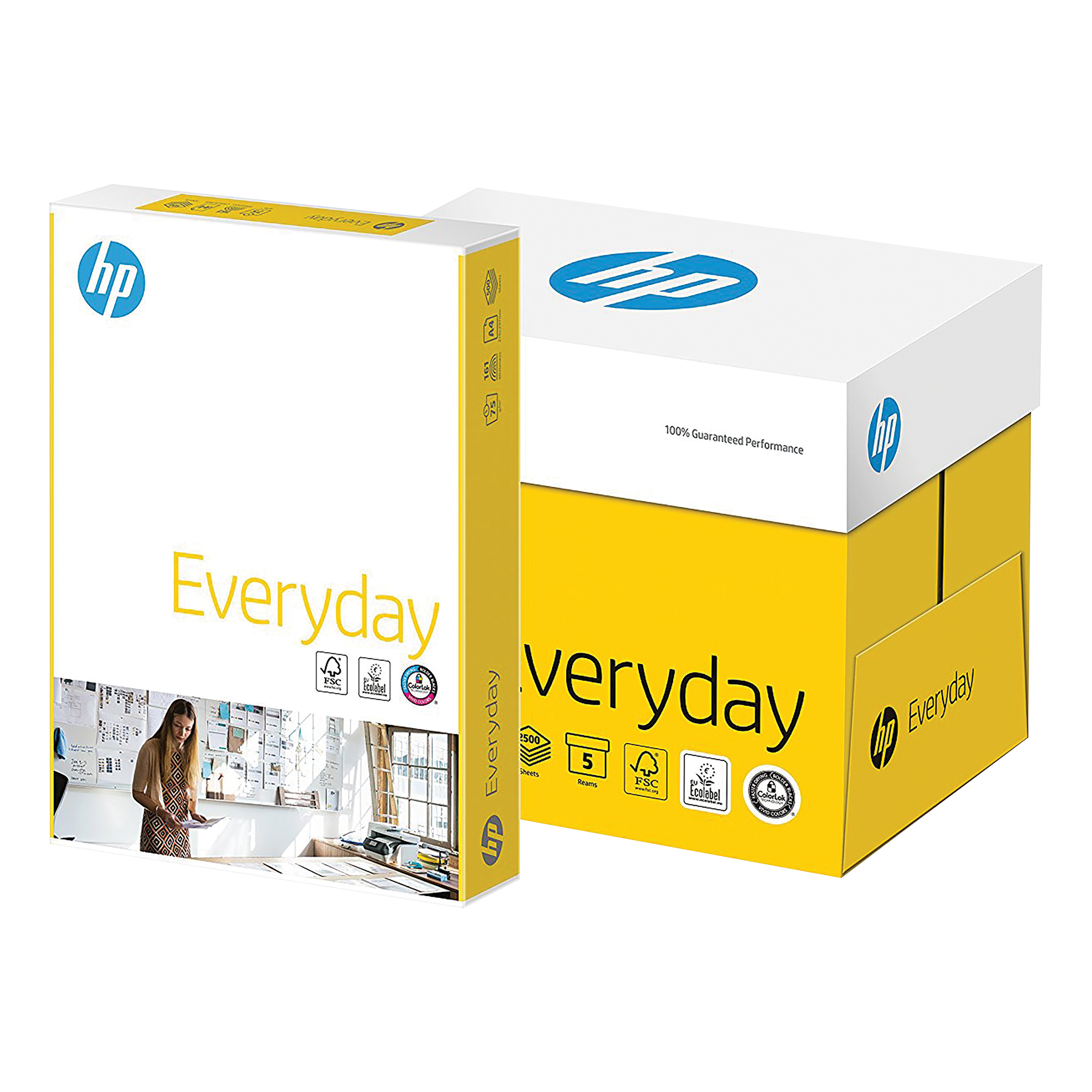 Hewlett Packard HP Everyday Paper PEFC Colorlok 75gsm A4 White Ref CHP650 5 x 500 Sheets