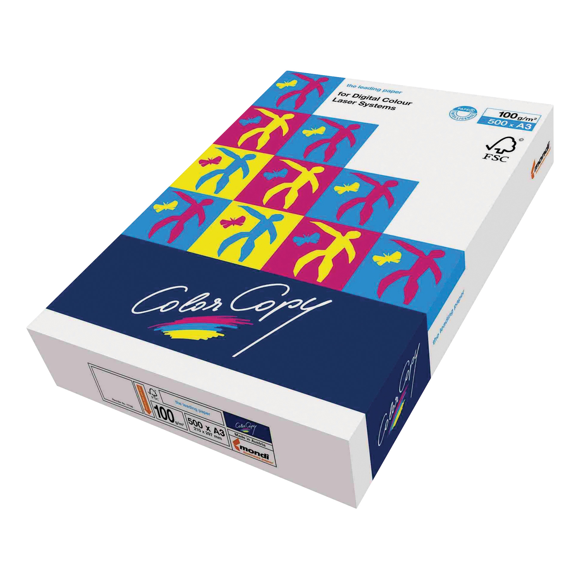 Color Copy Paper Premium Super Smooth FSC Ream-Wrapped 100gsm A3 White Ref CCW1024 [500 Sheets]