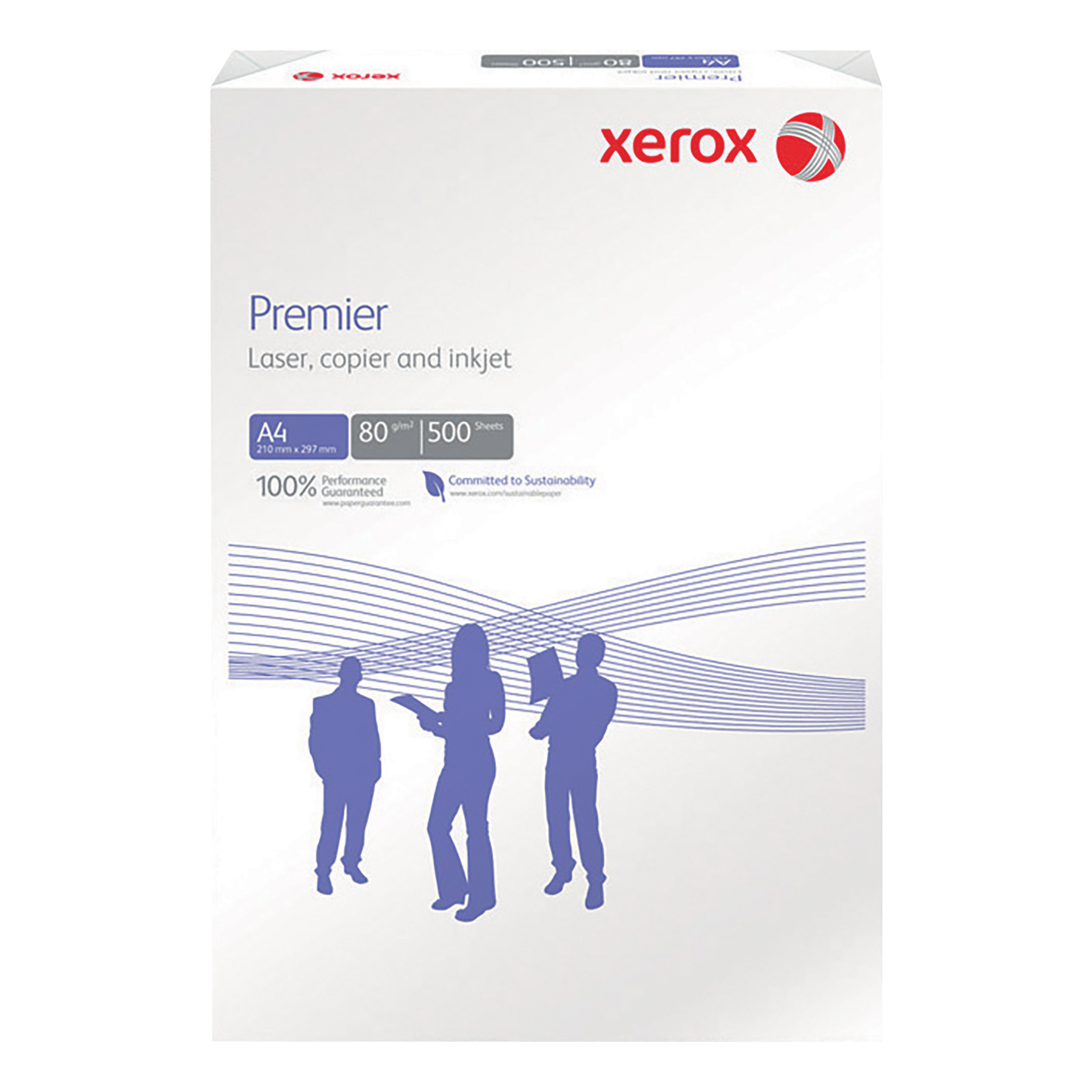 Xerox Premier Copier Paper Multifunctional Ream-Wrapped 80gsm A4 White Ref 62320 500 Sheets