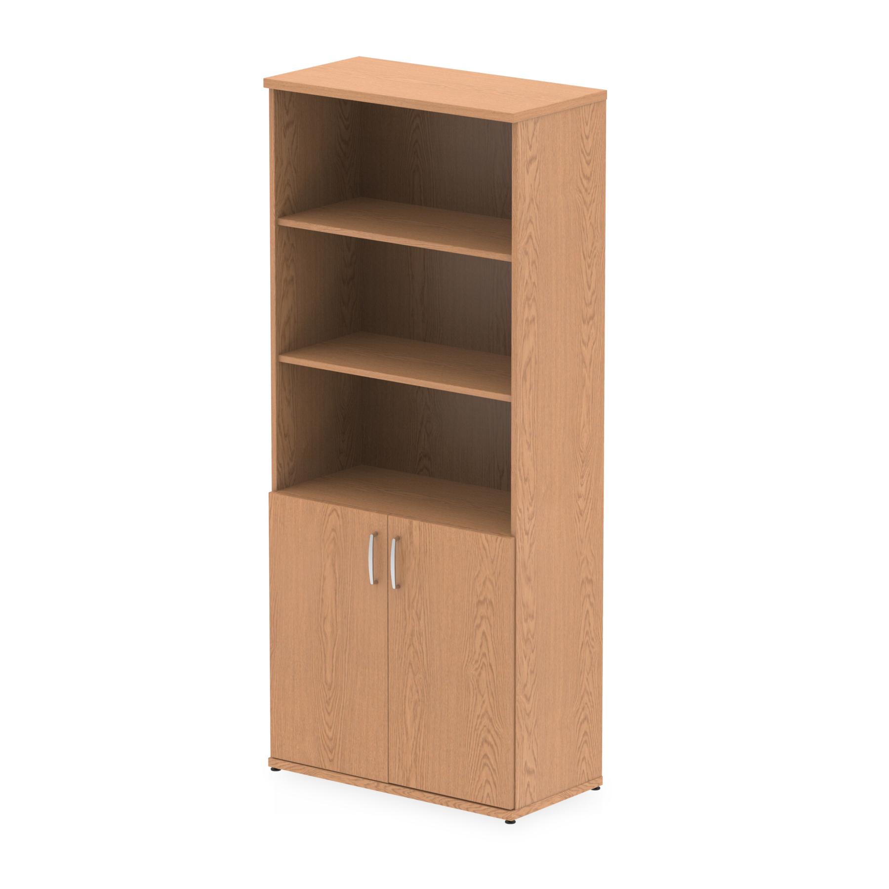 Storage cabinets Trexus Cupboard Open Shelves 2000x800x400mm Oak Ref I000755