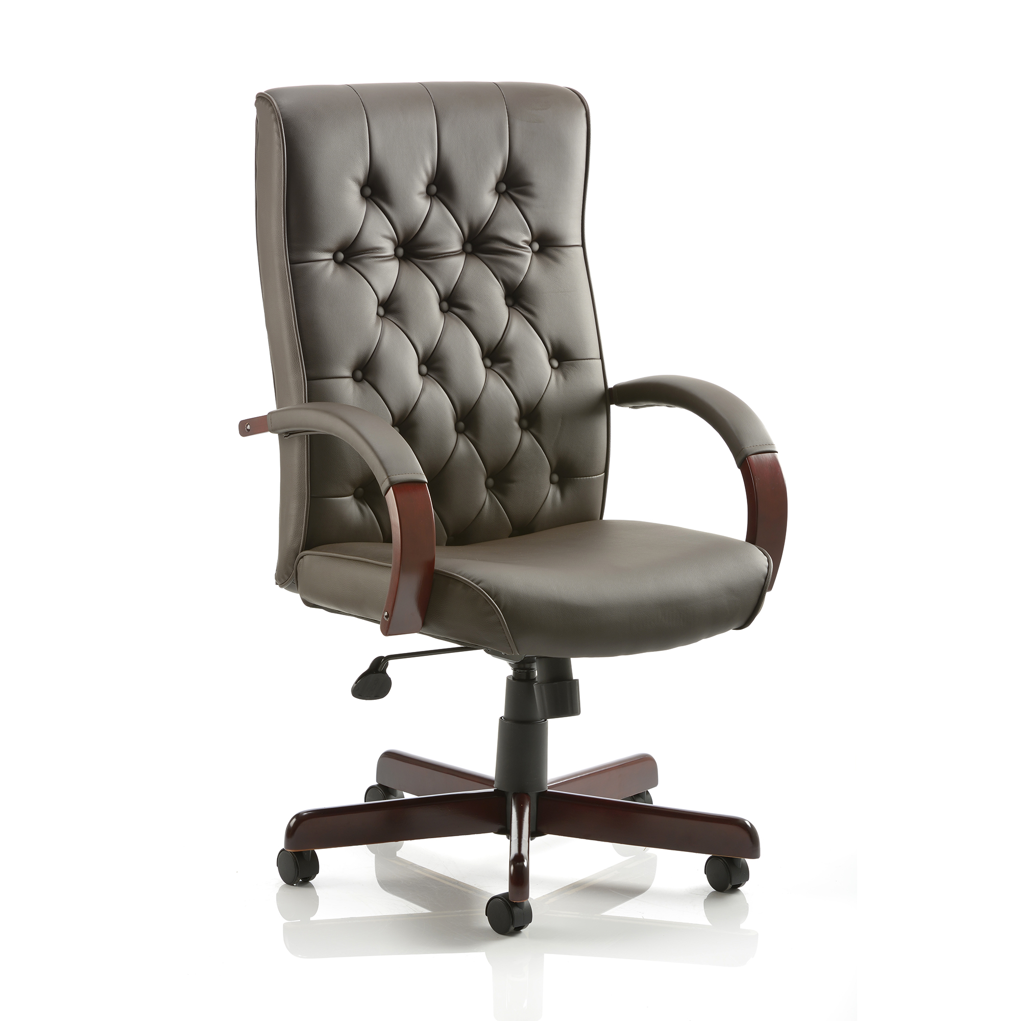 Executive seating Trexus Chesterfield Executive Chair With Arms Leather Brown Ref EX000003