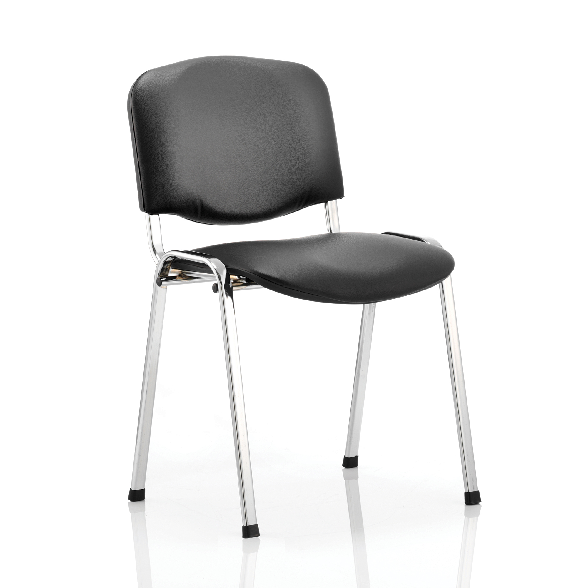 Auditorium or stadium or special use seating Trexus ISO Stacking Chair Without Arms Black Vinyl Chrome Frame Ref BR000071