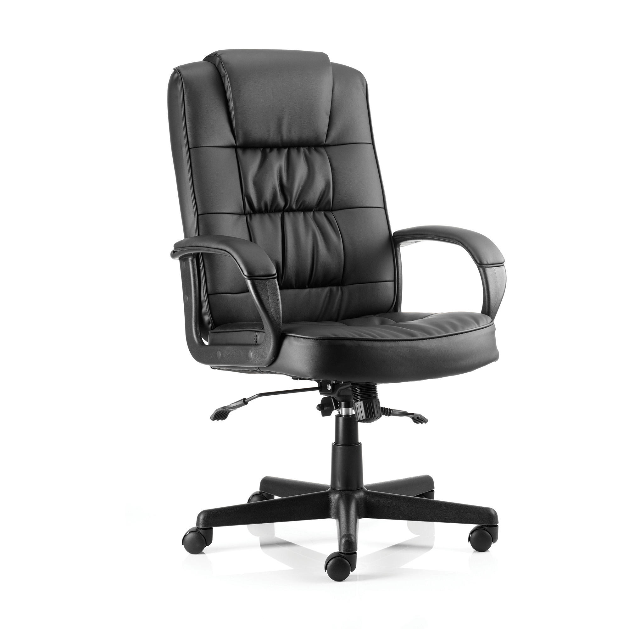 Executive seating Trexus Moore Executive With Arms Leather Black Ref EX000050