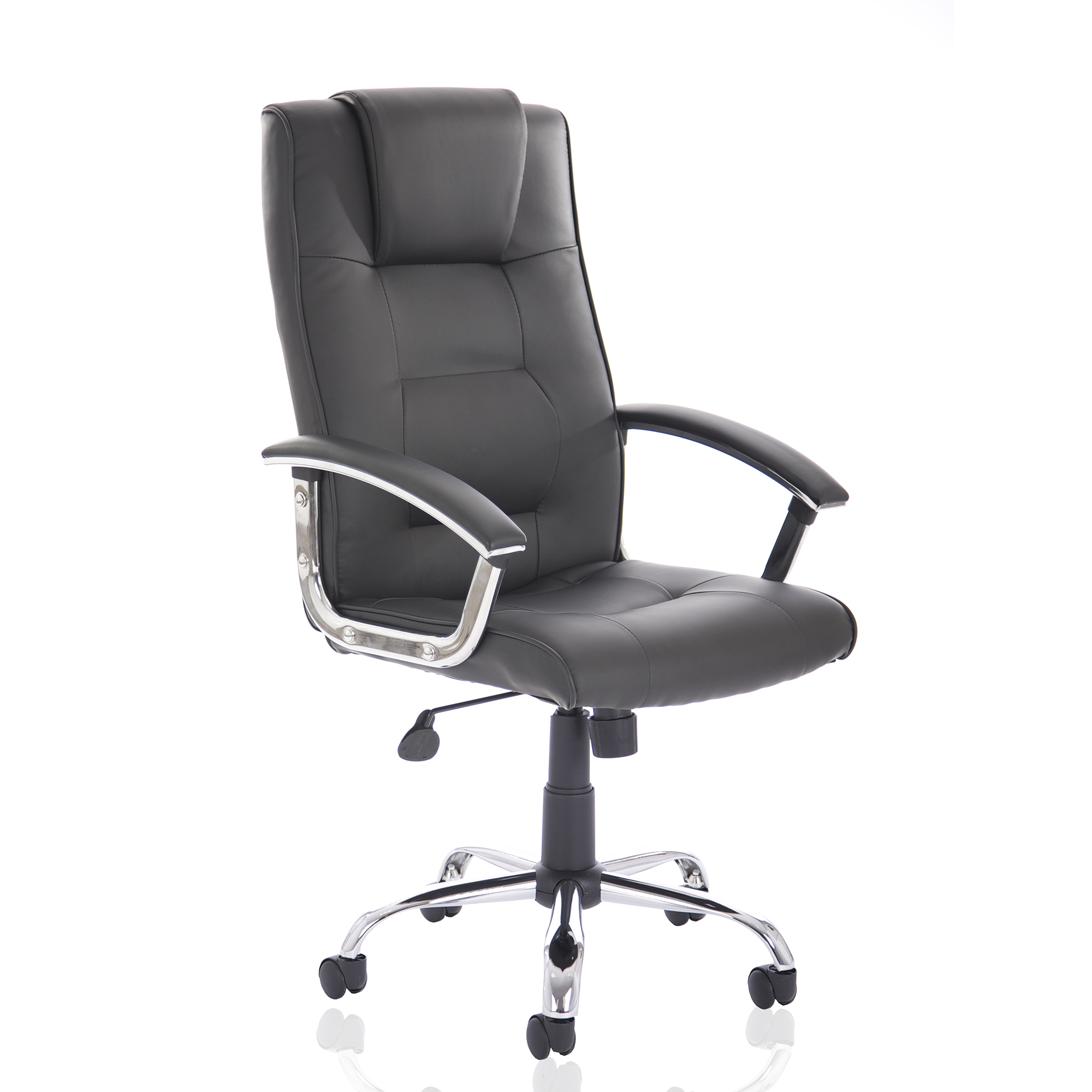 Executive seating Trexus Thrift Executive Chair With Padded Arms Bonded Leather Black Ref EX000163