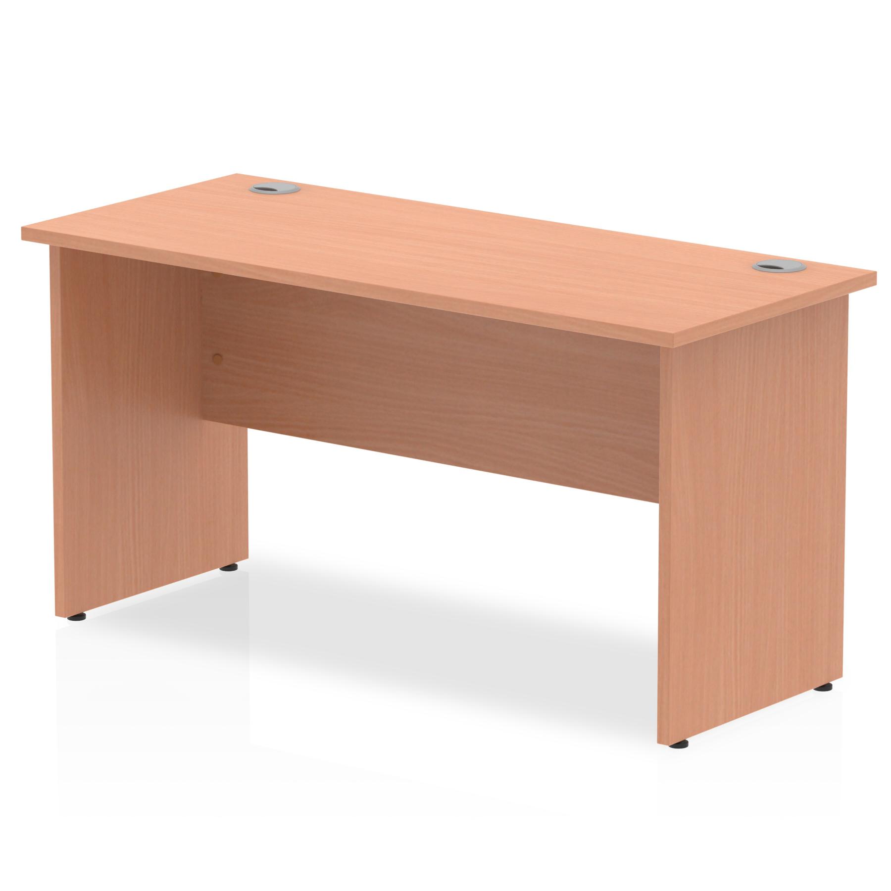 Trexus Desk Rectangle Panel End Leg 1400x600mm Beech Ref MI001730