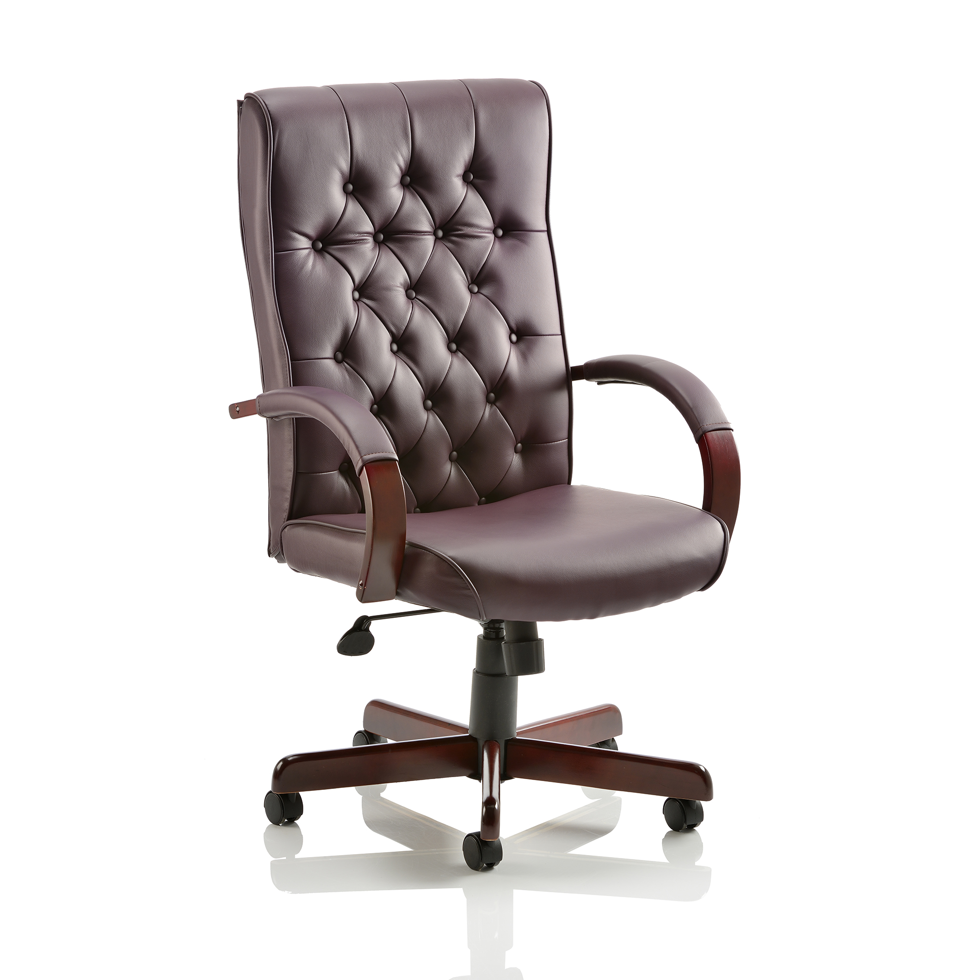 Executive seating Trexus Chesterfield Executive Chair With Arms Leather Burgundy Ref EX000004