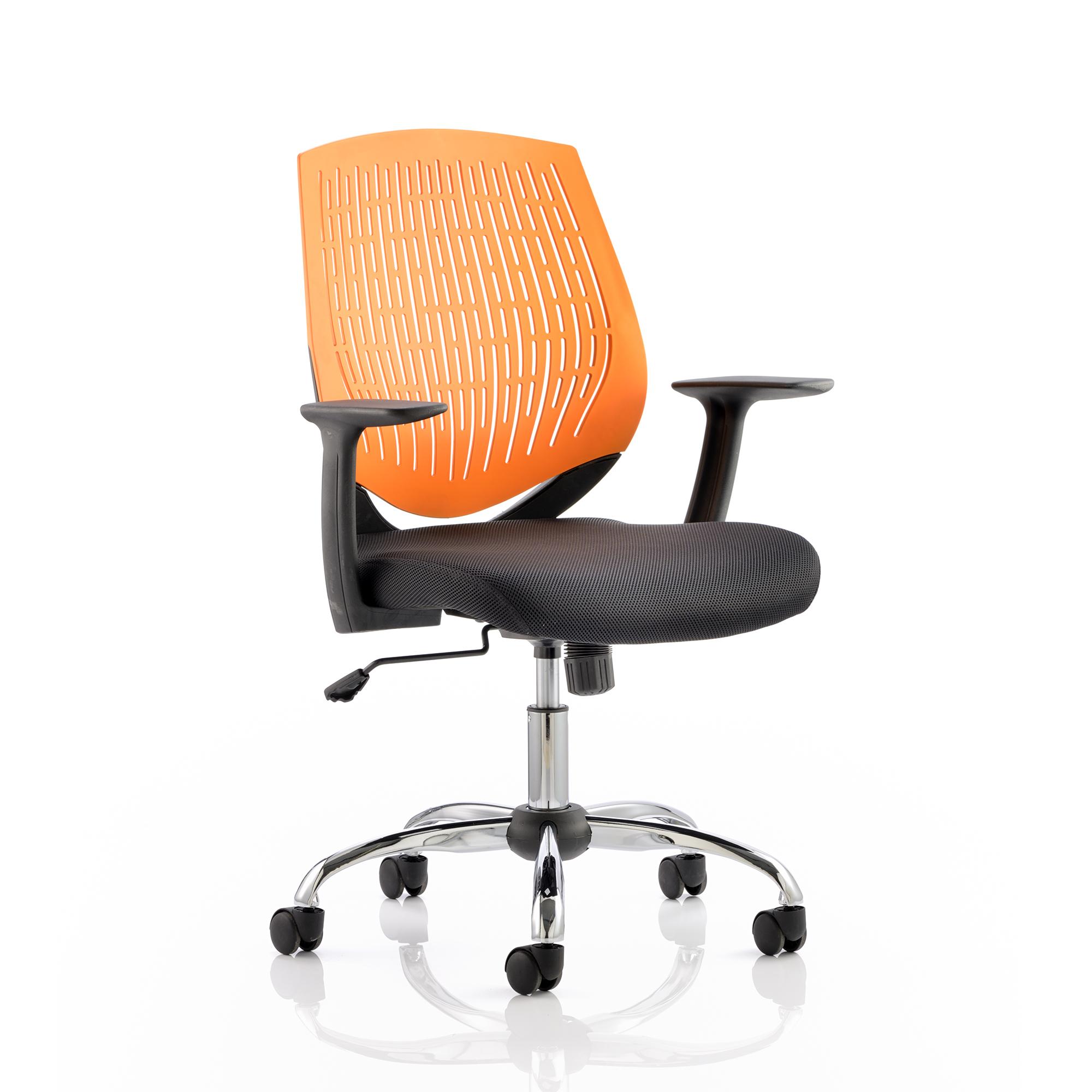 Guest seating Trexus Dura Task Operator Chair With Arms Orange Ref OP000019