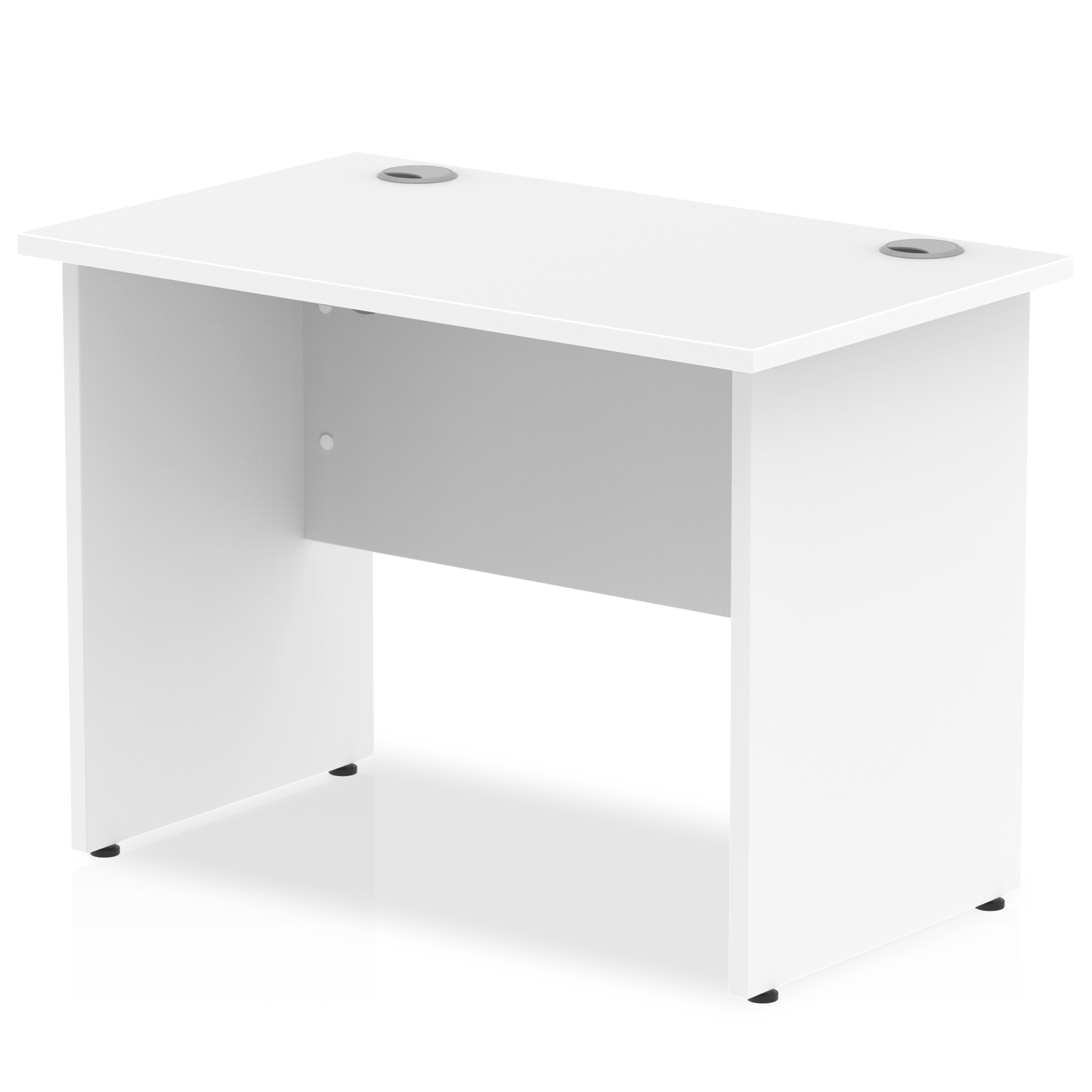 Trexus Desk Rectangle Panel End Leg 1000x600mm White Ref MI002245