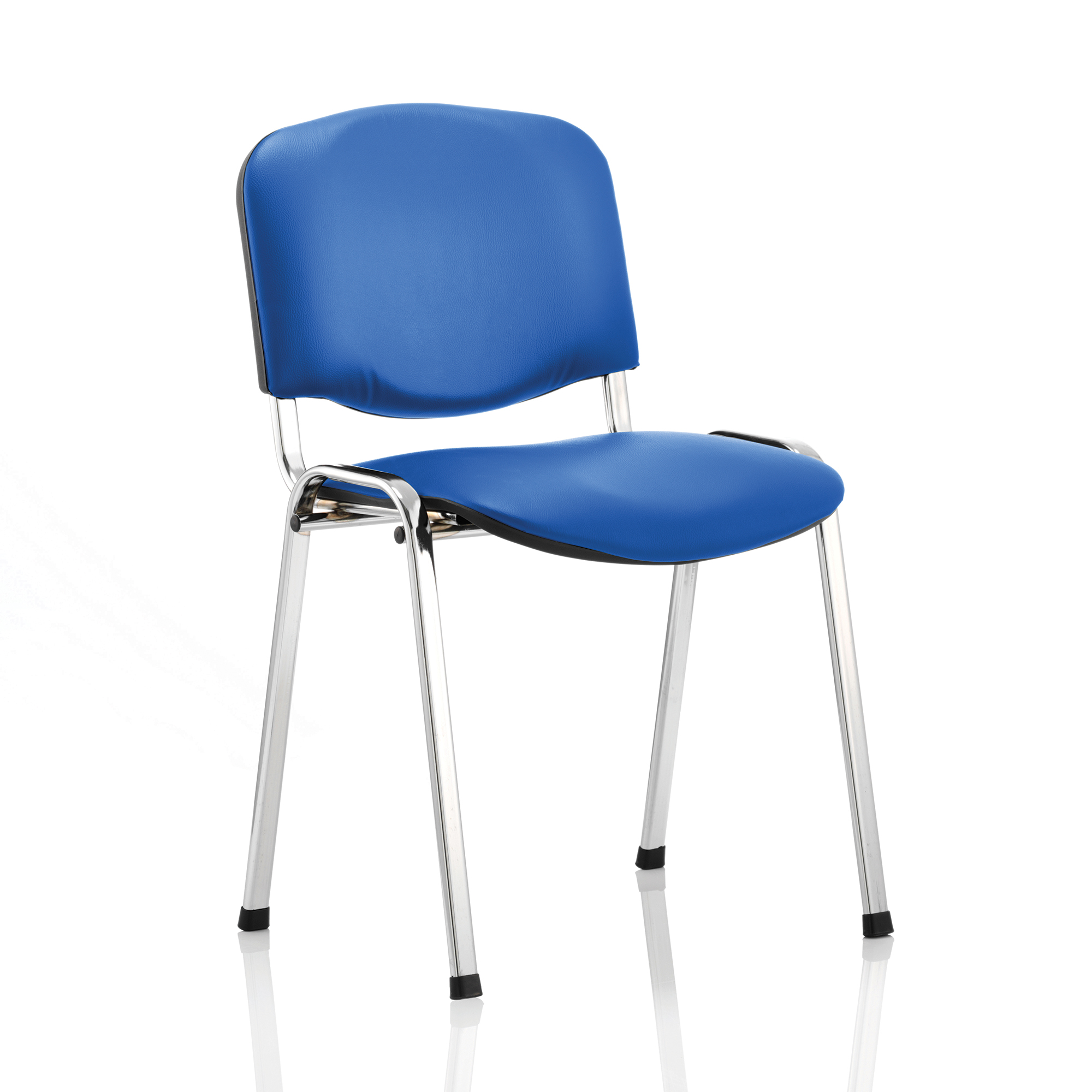 Auditorium or stadium or special use seating Trexus ISO Stacking Chair Without Arms Blue Vinyl Chrome Frame Ref BR000072