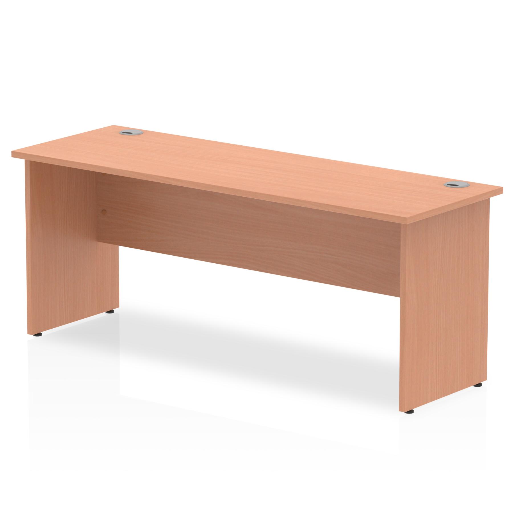 Trexus Desk Rectangle Panel End Leg 1800x600mm Beech Ref MI001732