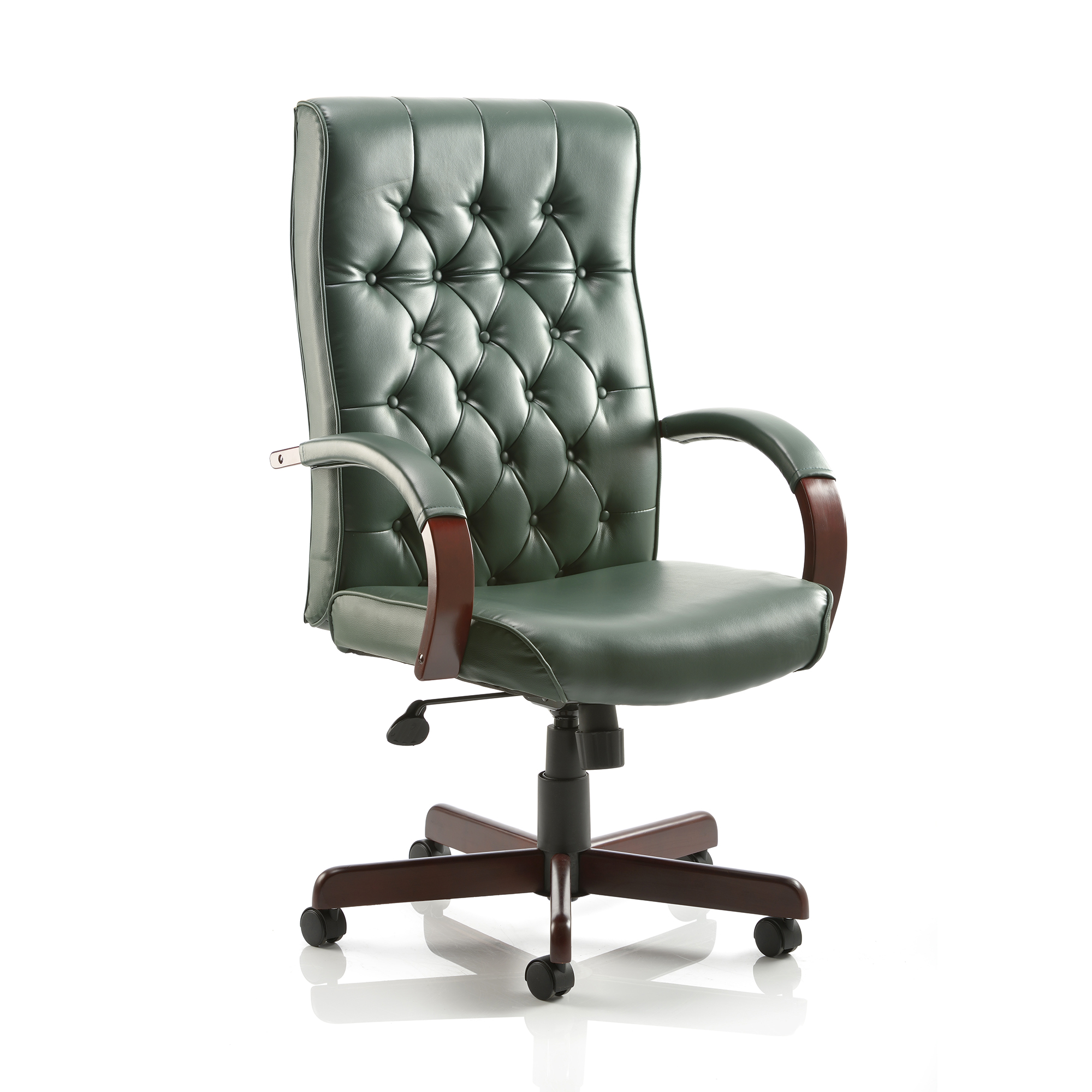 Executive seating Trexus Chesterfield Executive Chair With Arms Leather Green Ref EX000006
