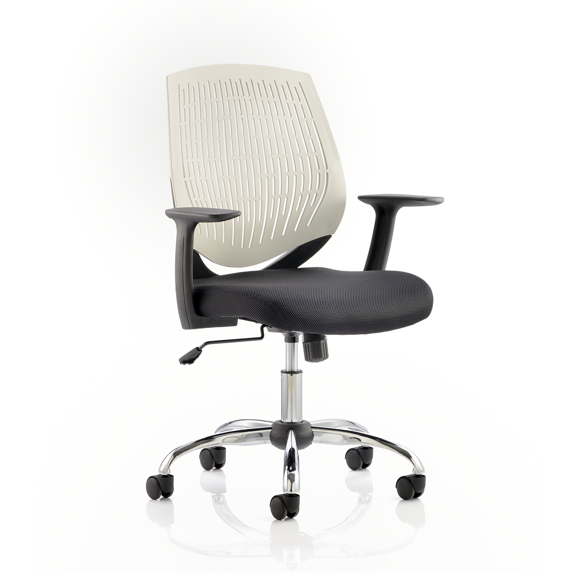 Guest seating Trexus Dura Task Operator Chair With Arms White Ref OP000022