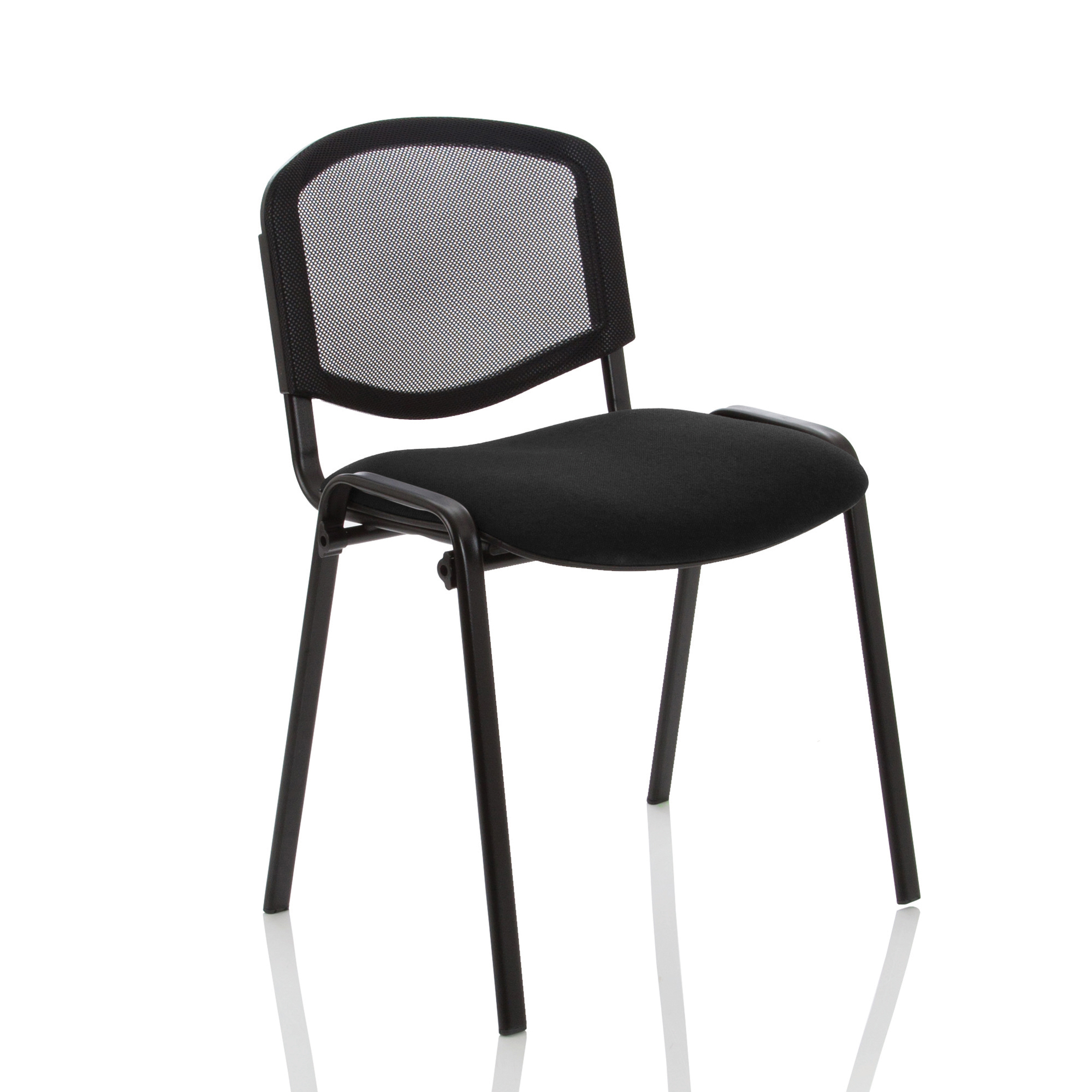 Auditorium or stadium or special use seating Trexus ISO Stacking Chair Without Arms Mesh Back Black Fabric Black Frame Ref BR000060
