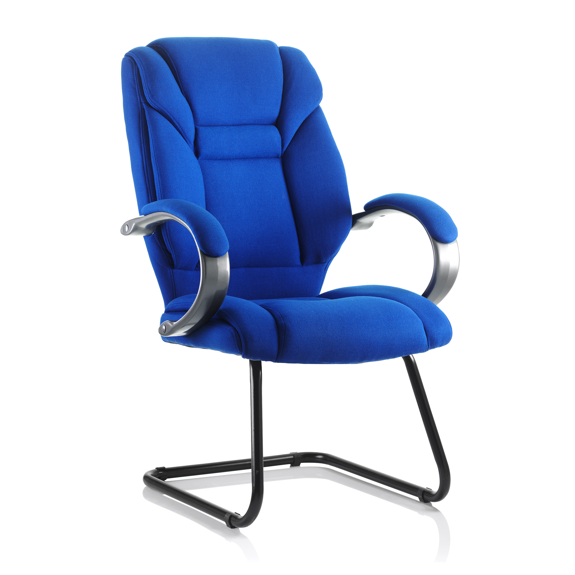 Guest seating Trexus Galloway Cantilever Chair With Arms Fabric Blue Ref KC0123