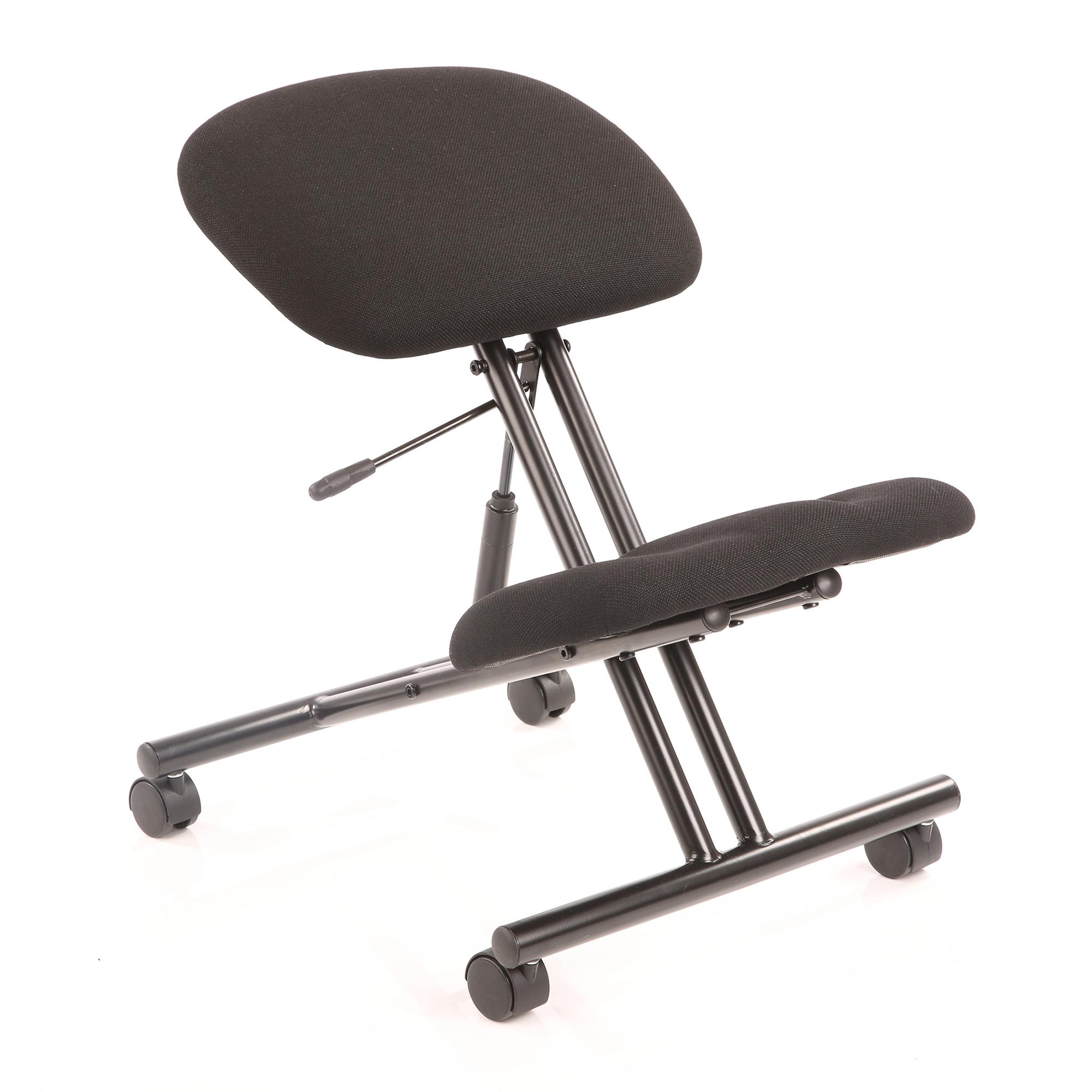 Guest seating Trexus Kneeling Stool Task Operator Frame Black Fabric Black Ref OP000070