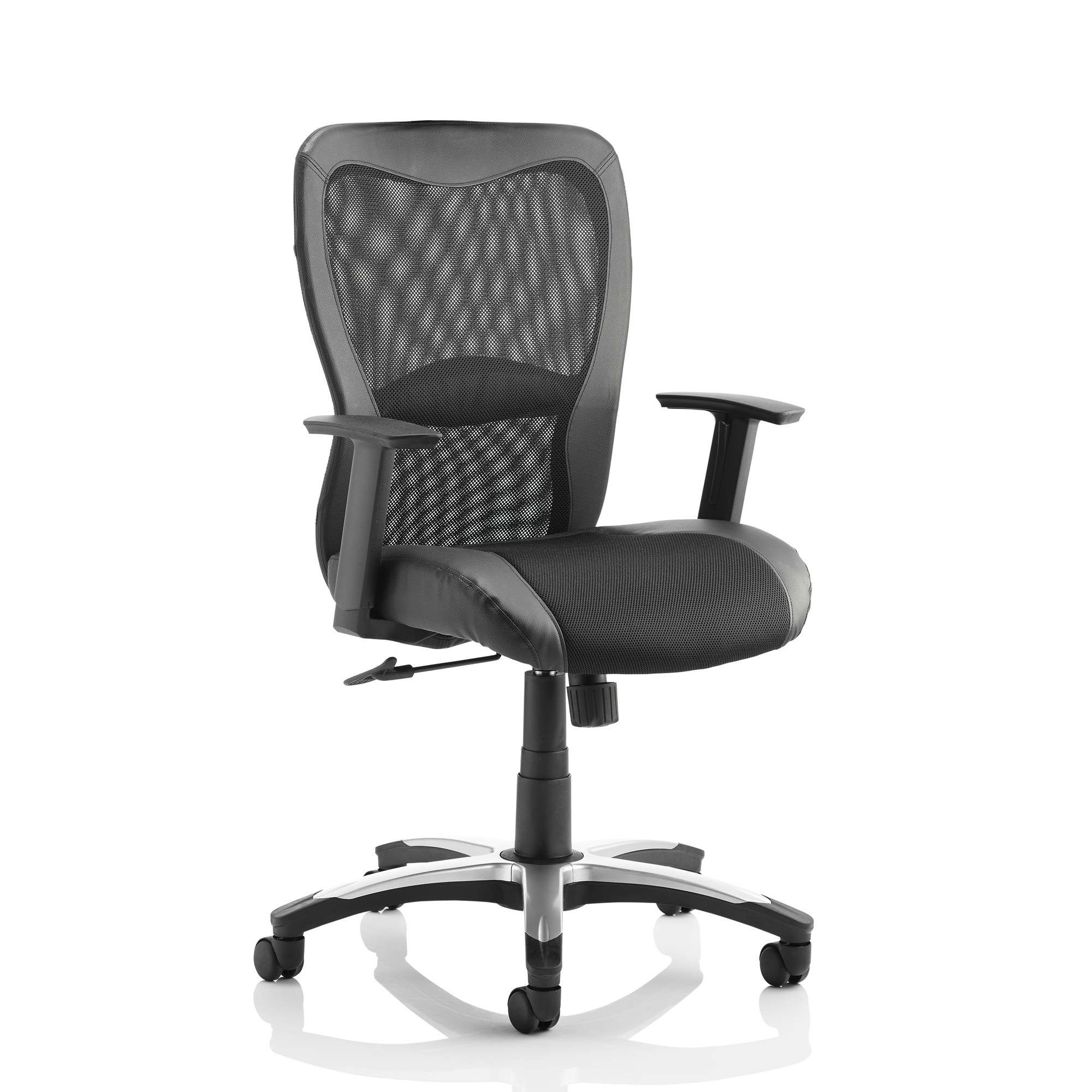 Executive seating Trexus Victor II Executive Chair With Arms Mesh Leather Black Ref EX000075