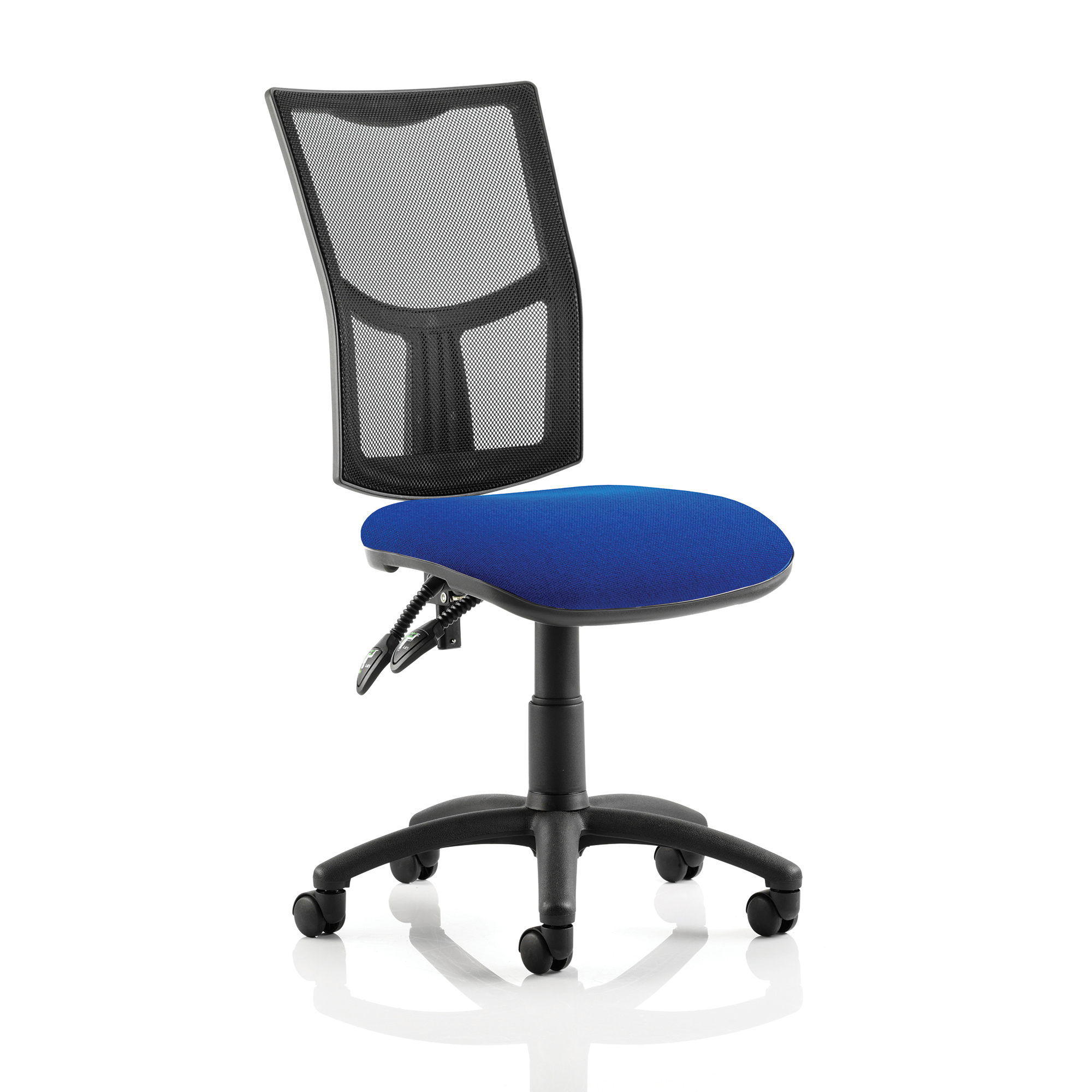 Guest seating Trexus Eclipse II Lever Task Operator Chair Mesh Back Seat Blue Ref KC0168