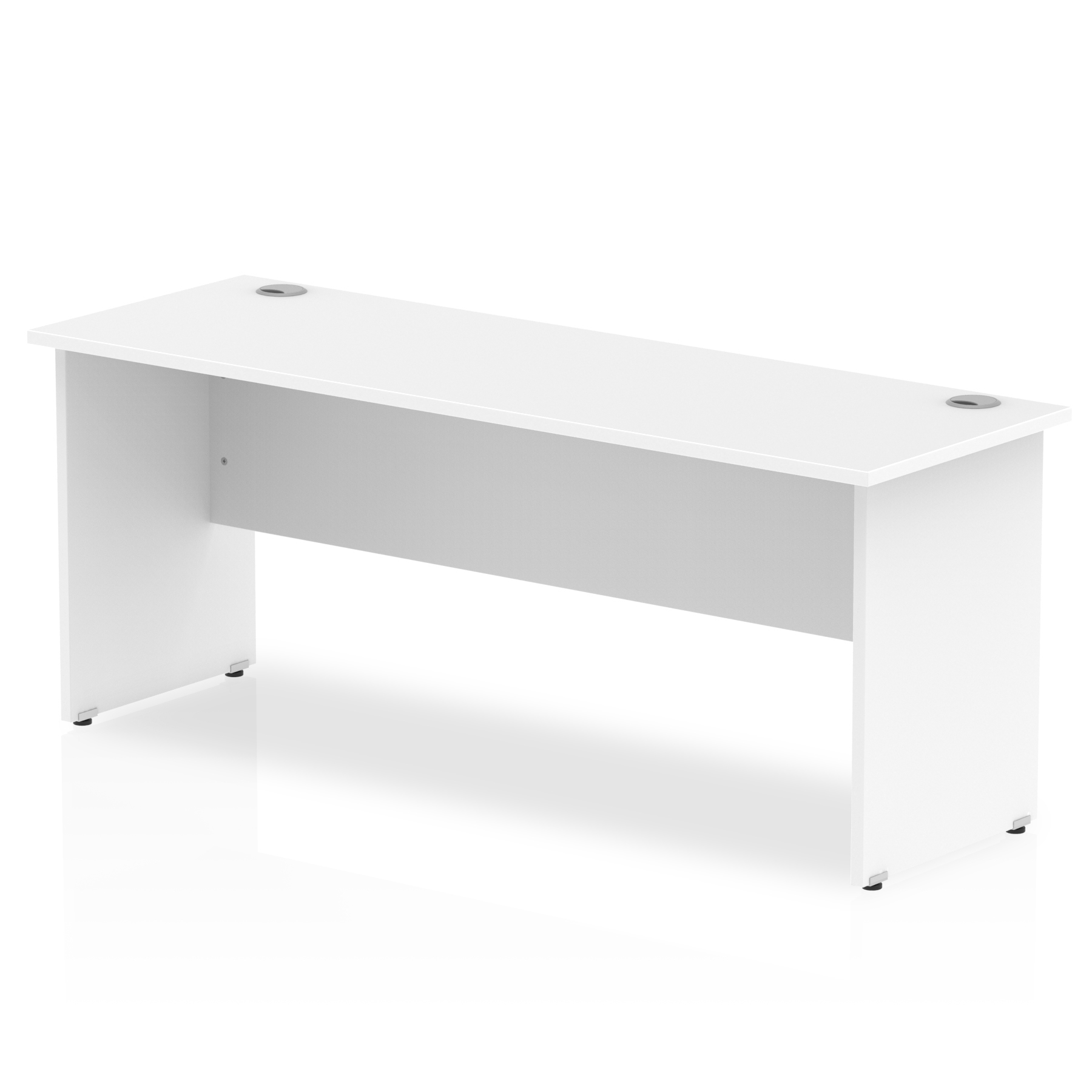 Trexus Desk Rectangle Panel End Leg 1800x600mm White Ref MI002249