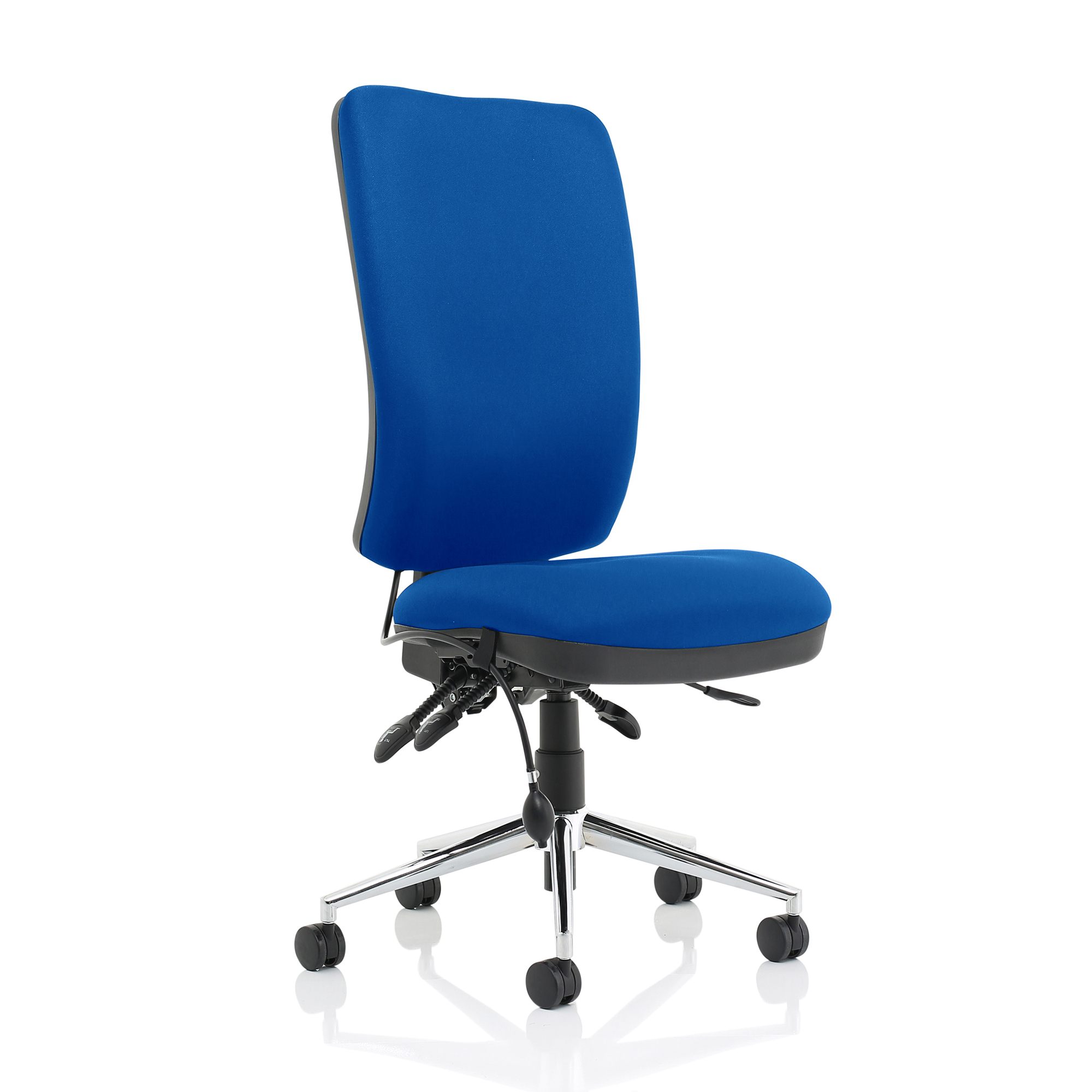Task seating Sonix Chiro High Back No Arms Blue Ref OP000246