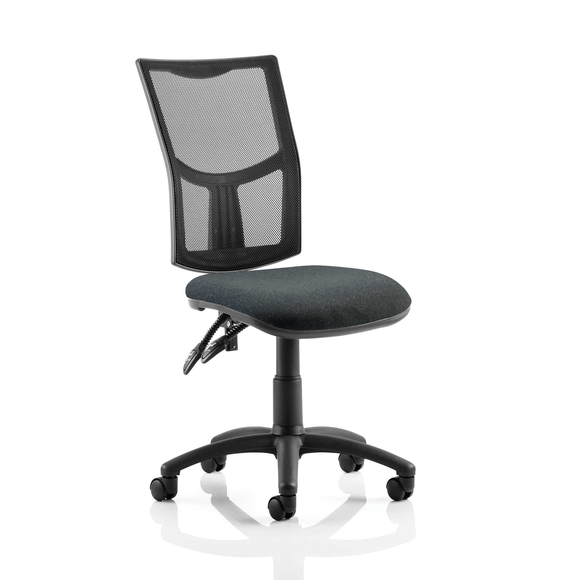 Trexus Eclipse II Lever Task Operator Chair Mesh Back Seat Charcoal Ref KC0170