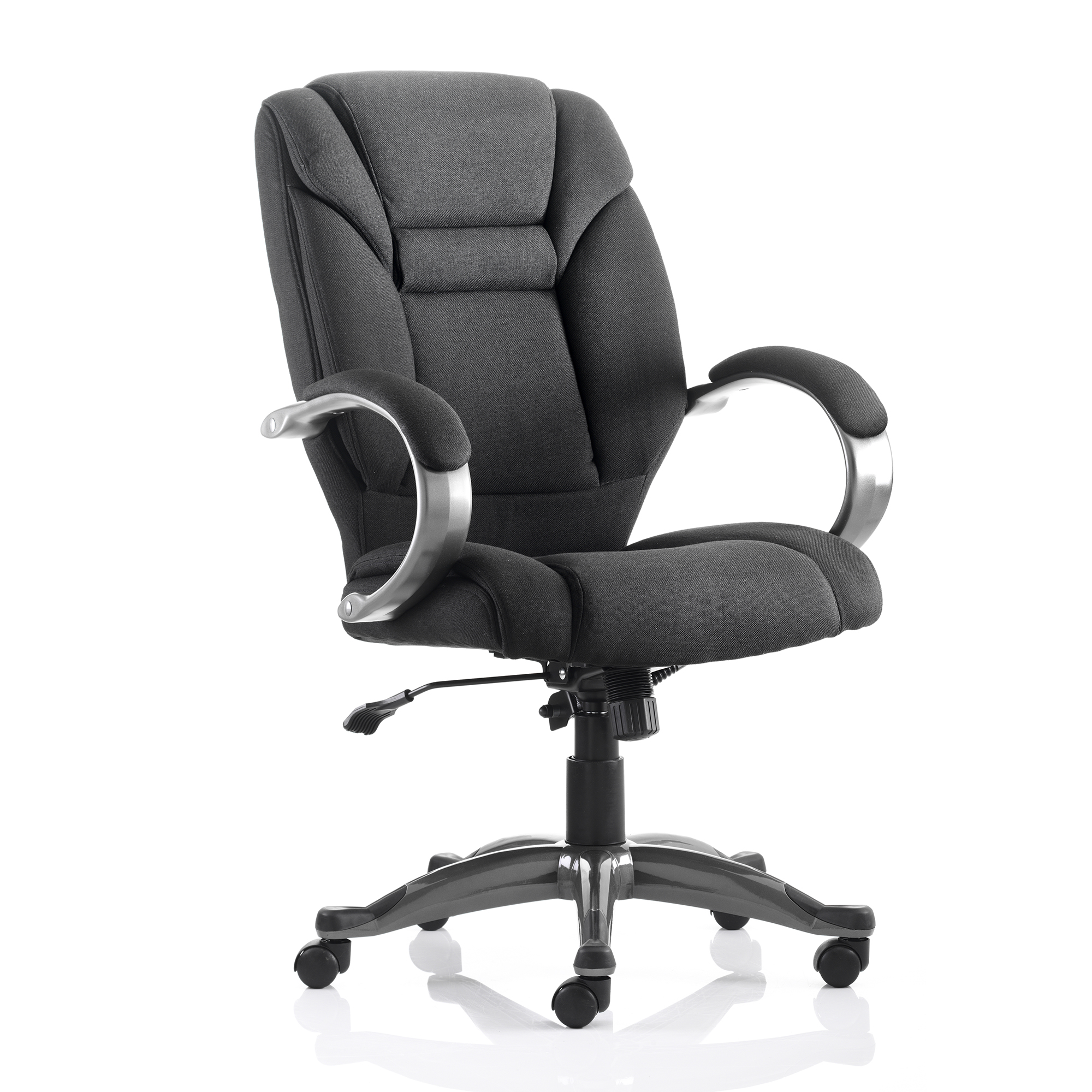 Executive seating Trexus Galloway Executive Chair With Arms Fabric Black Ref EX000030