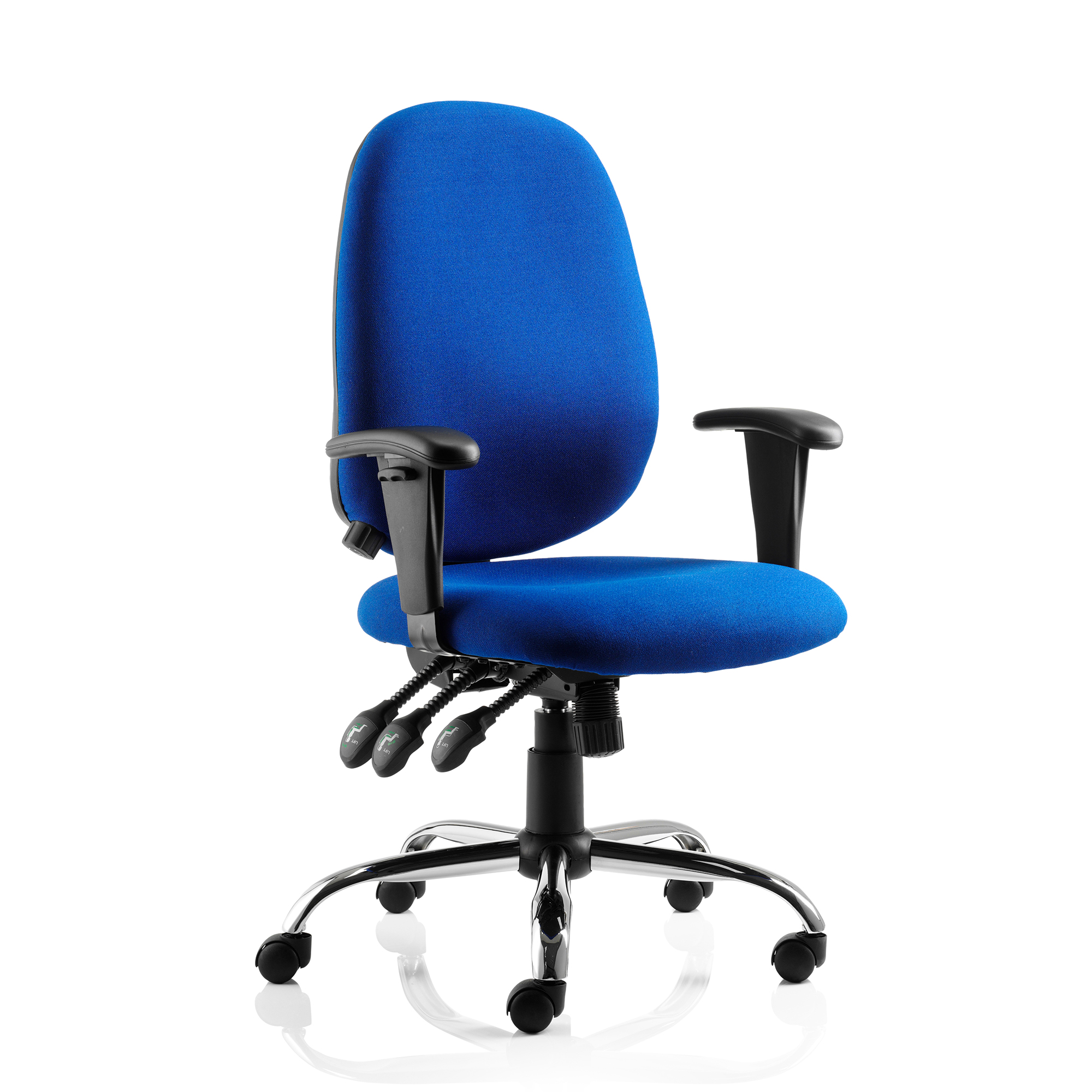Sonix Lisbon Task Operator Chair With Arms Fabric Black Ref OP000073