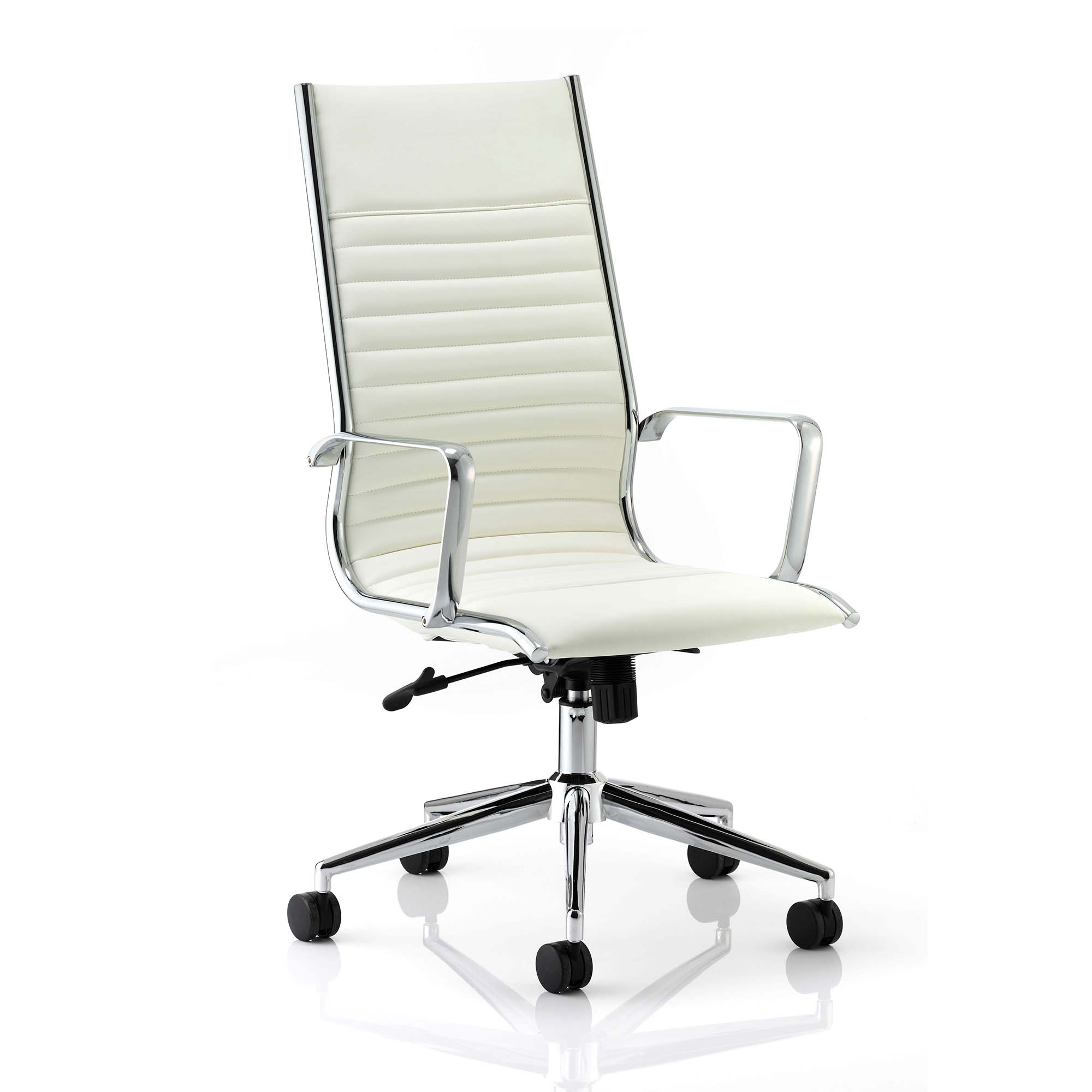 Executive seating Sonix Ritz Executive High Back Chair With Arms Bonded Leather Ivory Ref EX000058