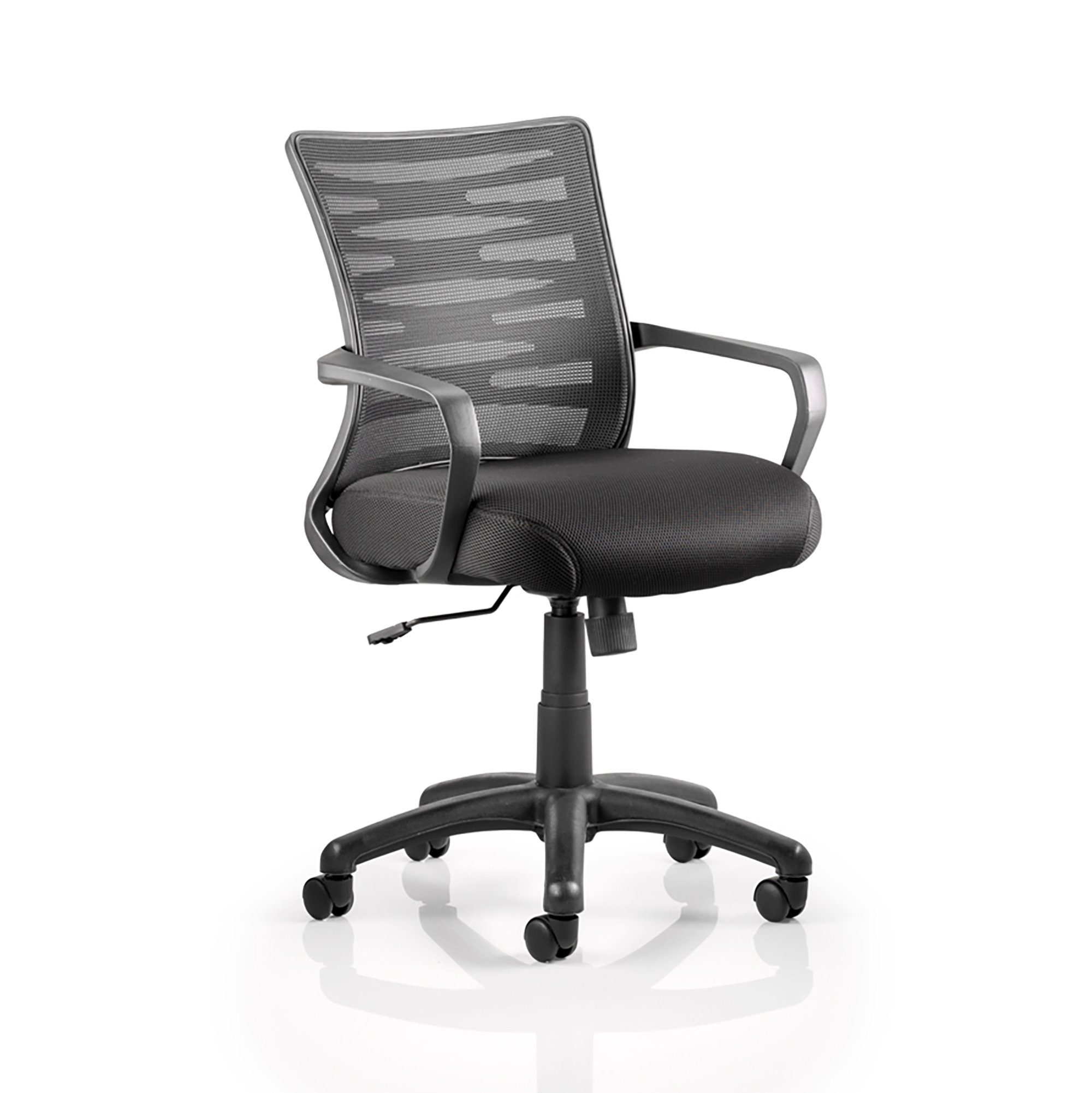 Guest seating Trexus Vortex Task Operator Chair With Arms Mesh Back Black Ref OP000180