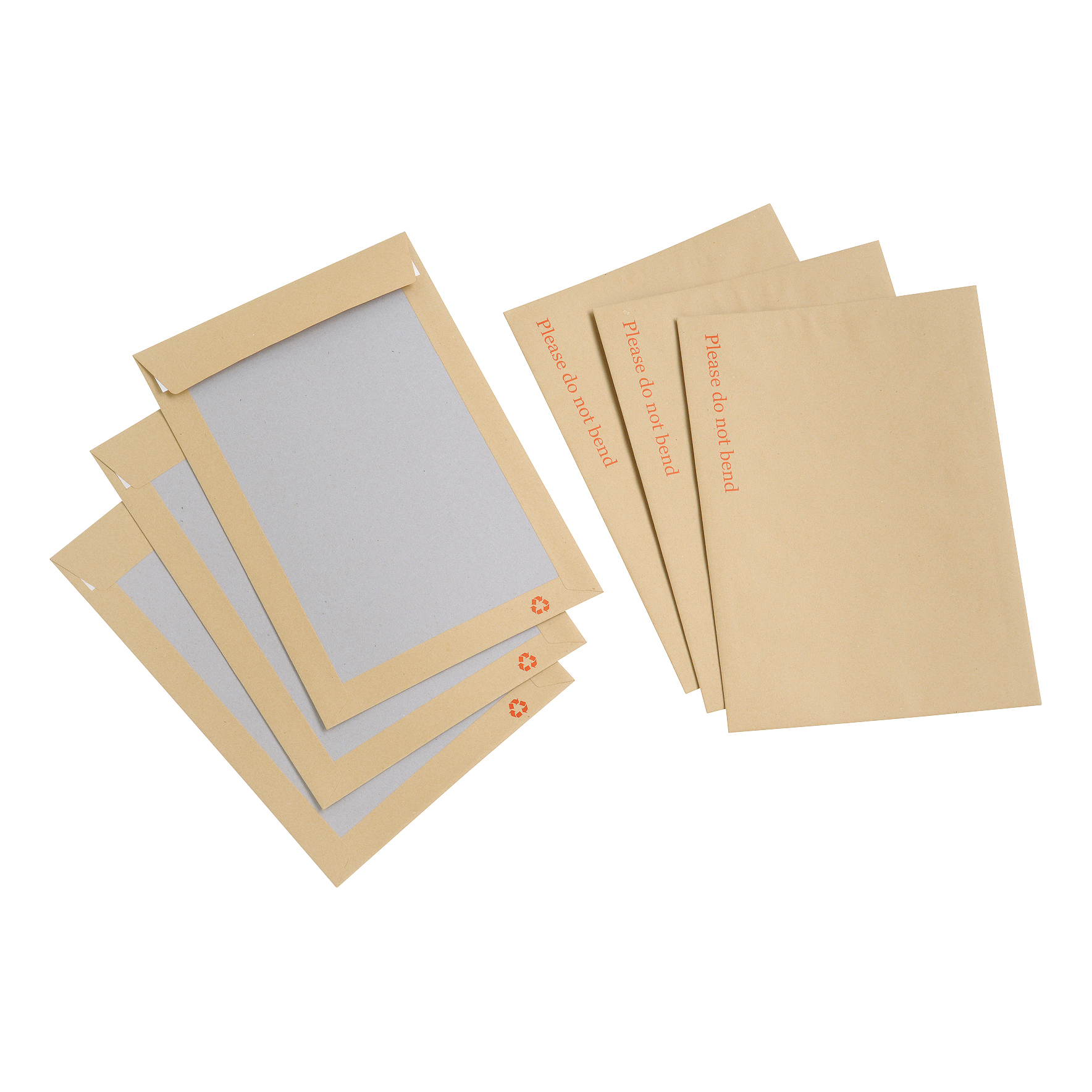 Board Backed Envelopes 5 Star Value Envelope Recycled Board Back Peel and Seal C4 115gsm Manilla Pack 125