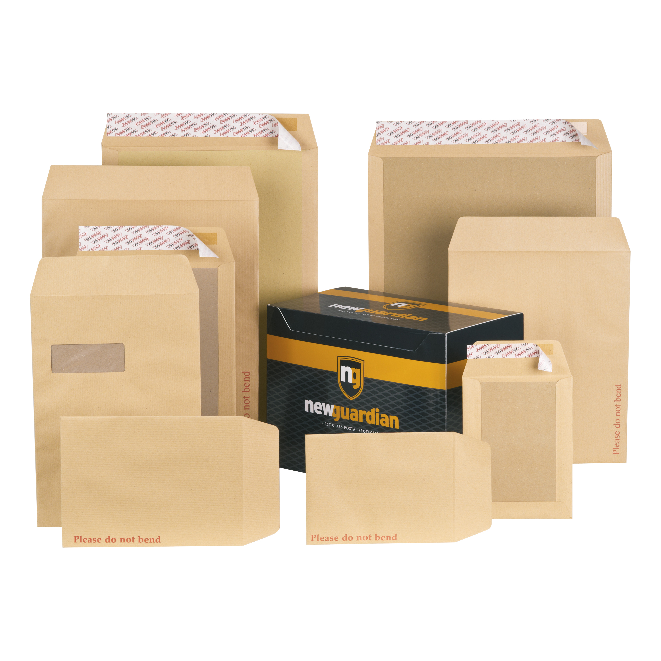 New Guardian Envelopes FSC Hvyweight Board Backed Pocket Window Peel & Seal C4 130gsm Manilla Pack 125