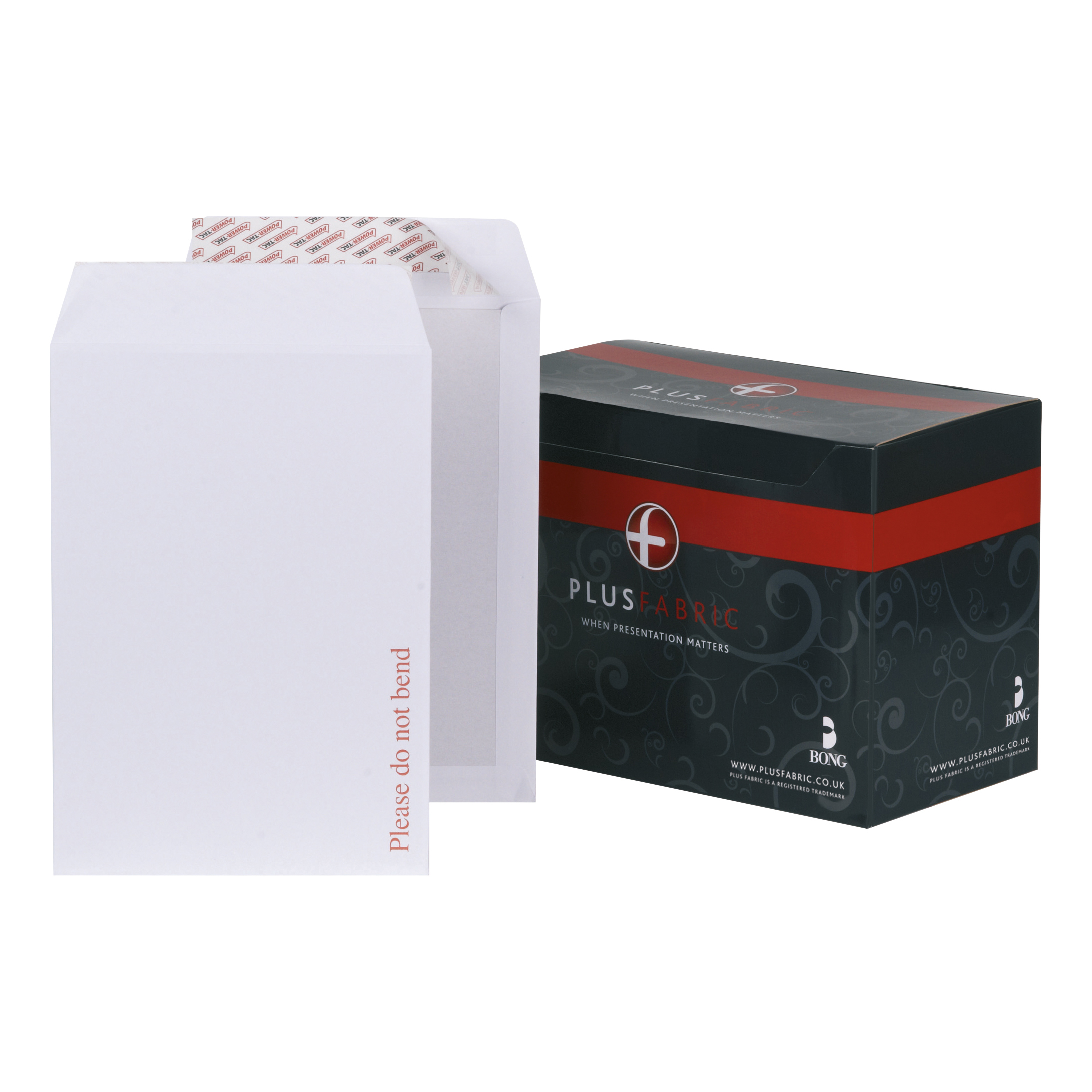 Plus Fabric Envelopes PEFC Premium Brd-backed Please Do Not Bend Peel & Seal 120gsm C4 White Pack 125