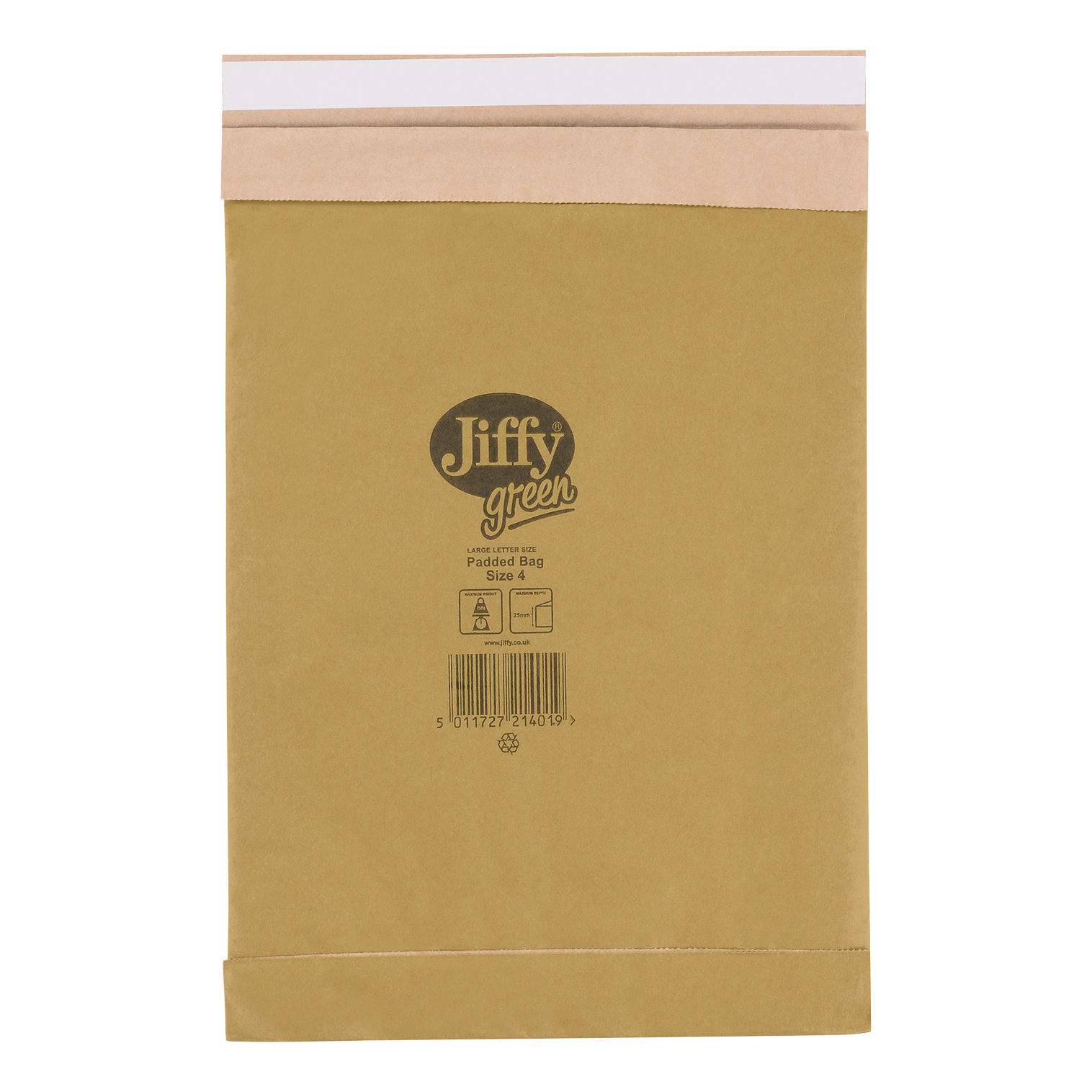 Padded Bags & Envelopes Jiffy Padded Bag Envelopes Size 4 Peel and Seal 225x343mm Brown Ref JPB-4 [Pack 100]