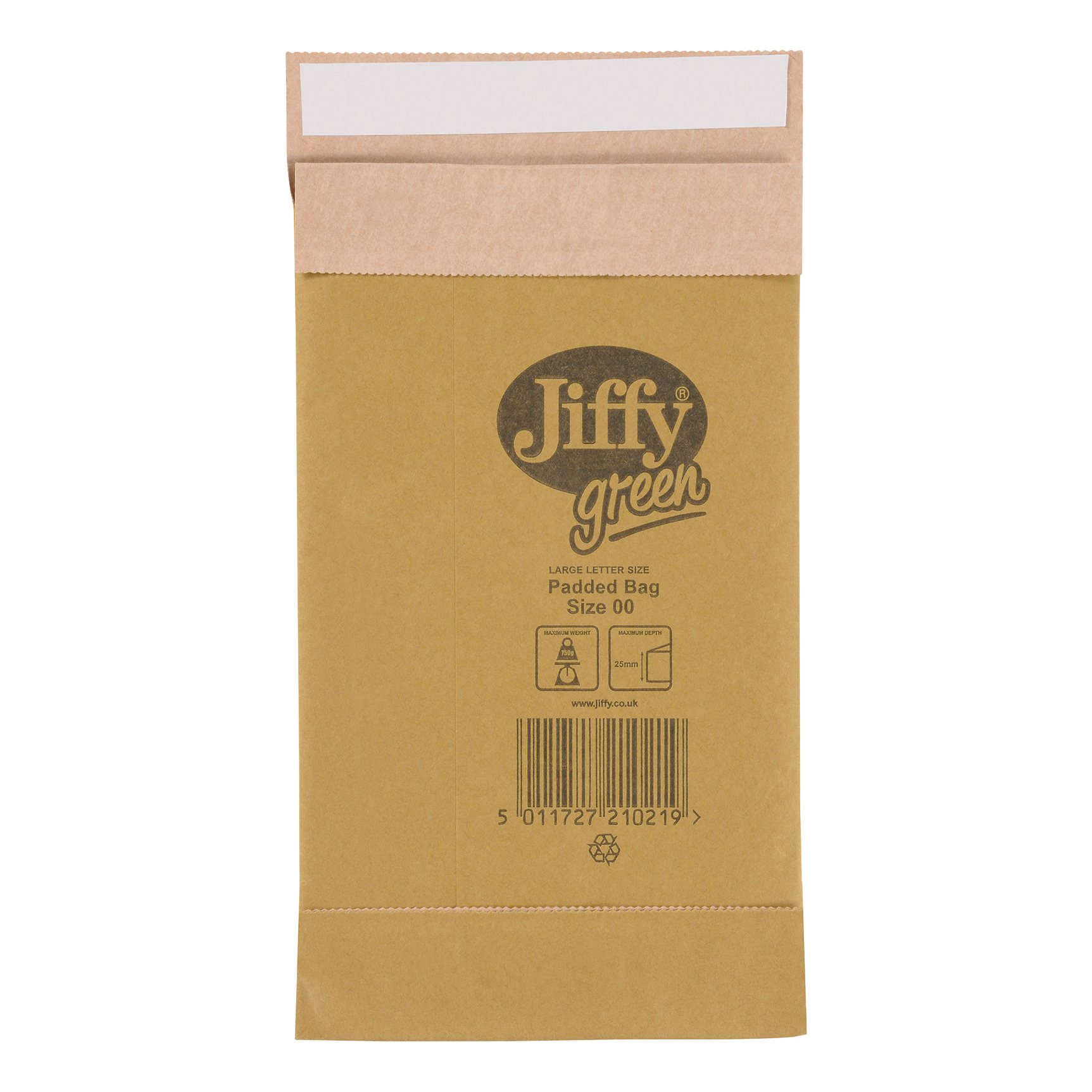 Jiffy Padded Bag Envelopes Size 00 Peel and Seal 115x195mm Brown Ref JPB-00 [Pack 200]