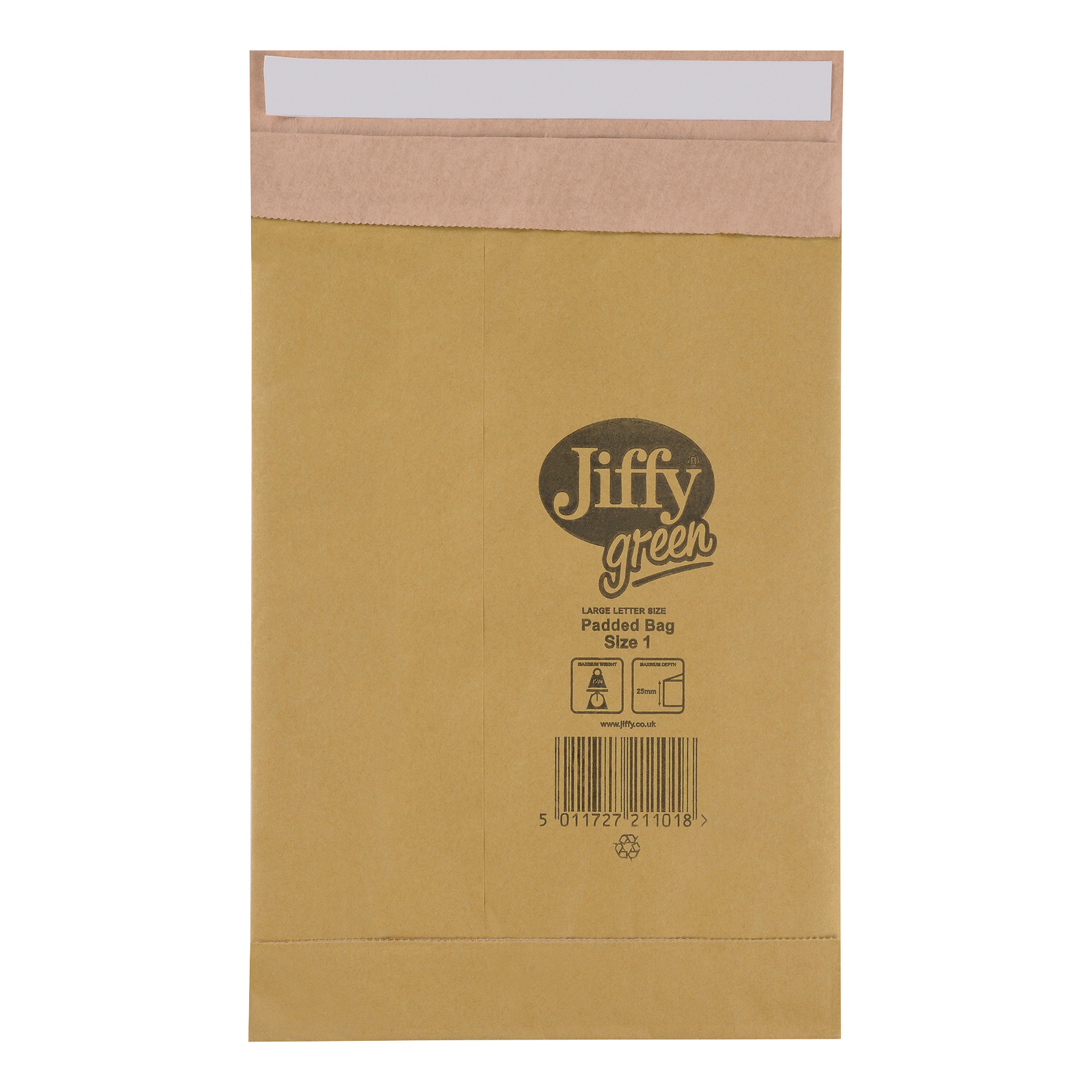 Jiffy Padded Bag Envelopes Size 1 P&S 165x280mm Brown Ref JPB-1 Pack 100