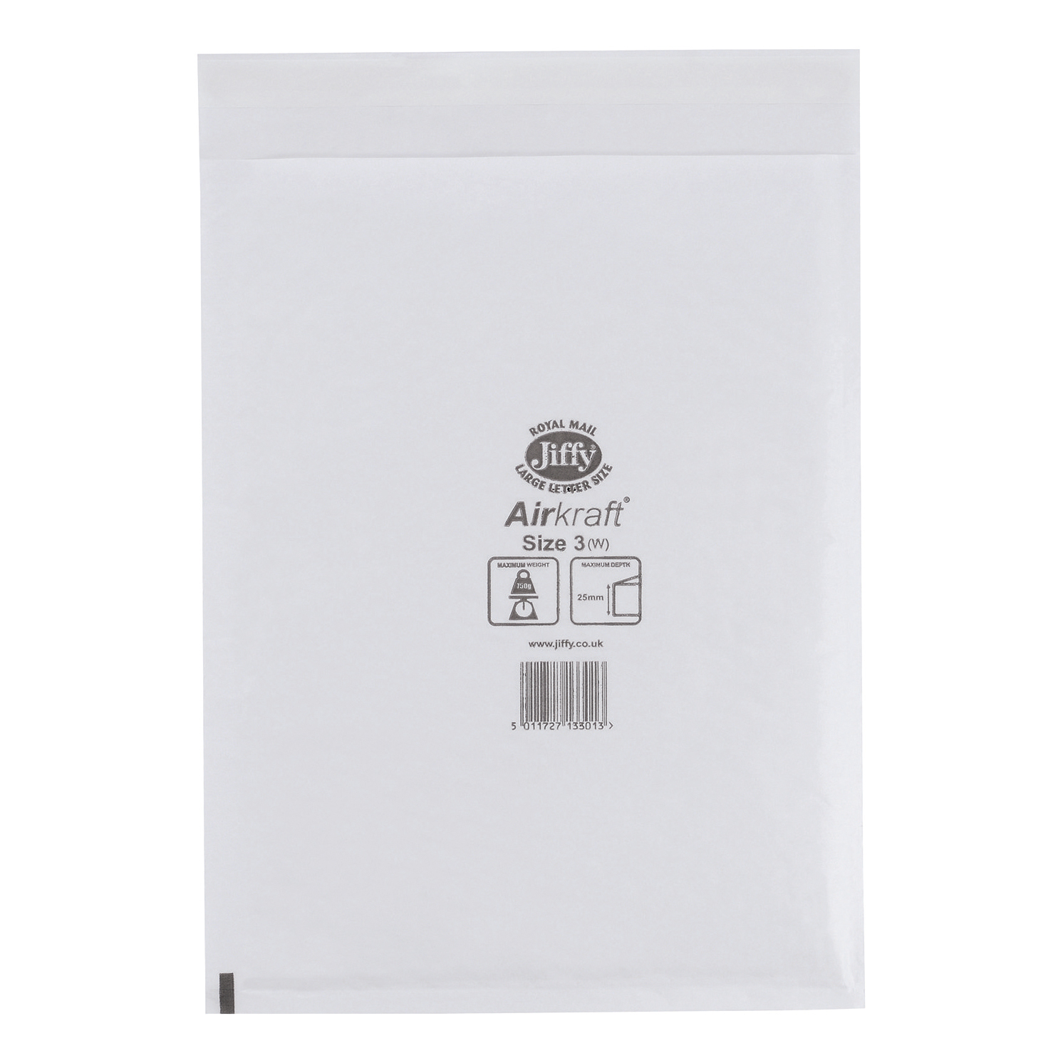 Jiffy Airkraft Postal Bags Bubble-lined Size 3 Peel and Seal 220x320mm White Ref JL-3 [Pack 50]