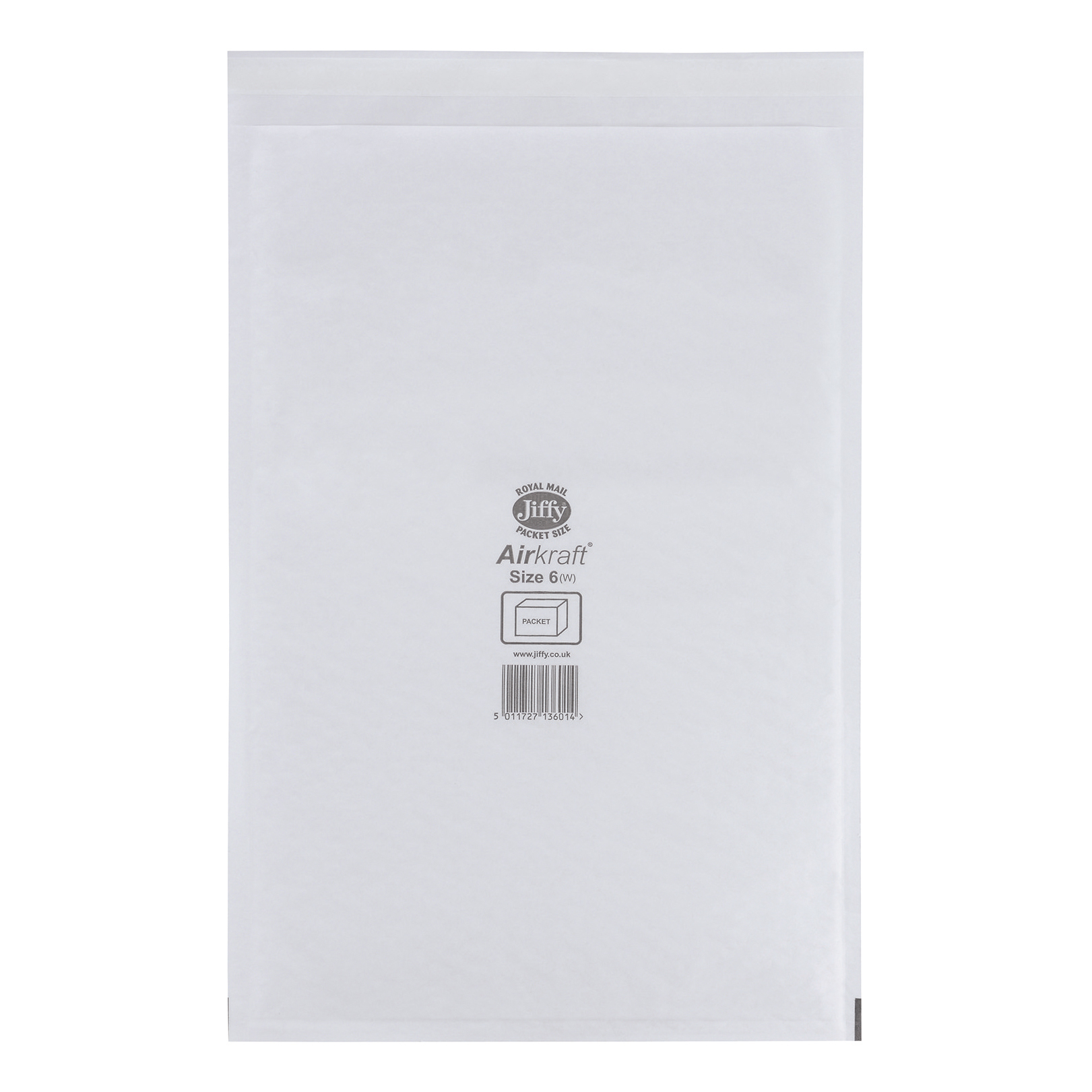 Padded Bags & Envelopes Jiffy Airkraft Bag Bubble-lined Size 6 Peel and Seal 290x445mm White Ref JL-6 [Pack 50]