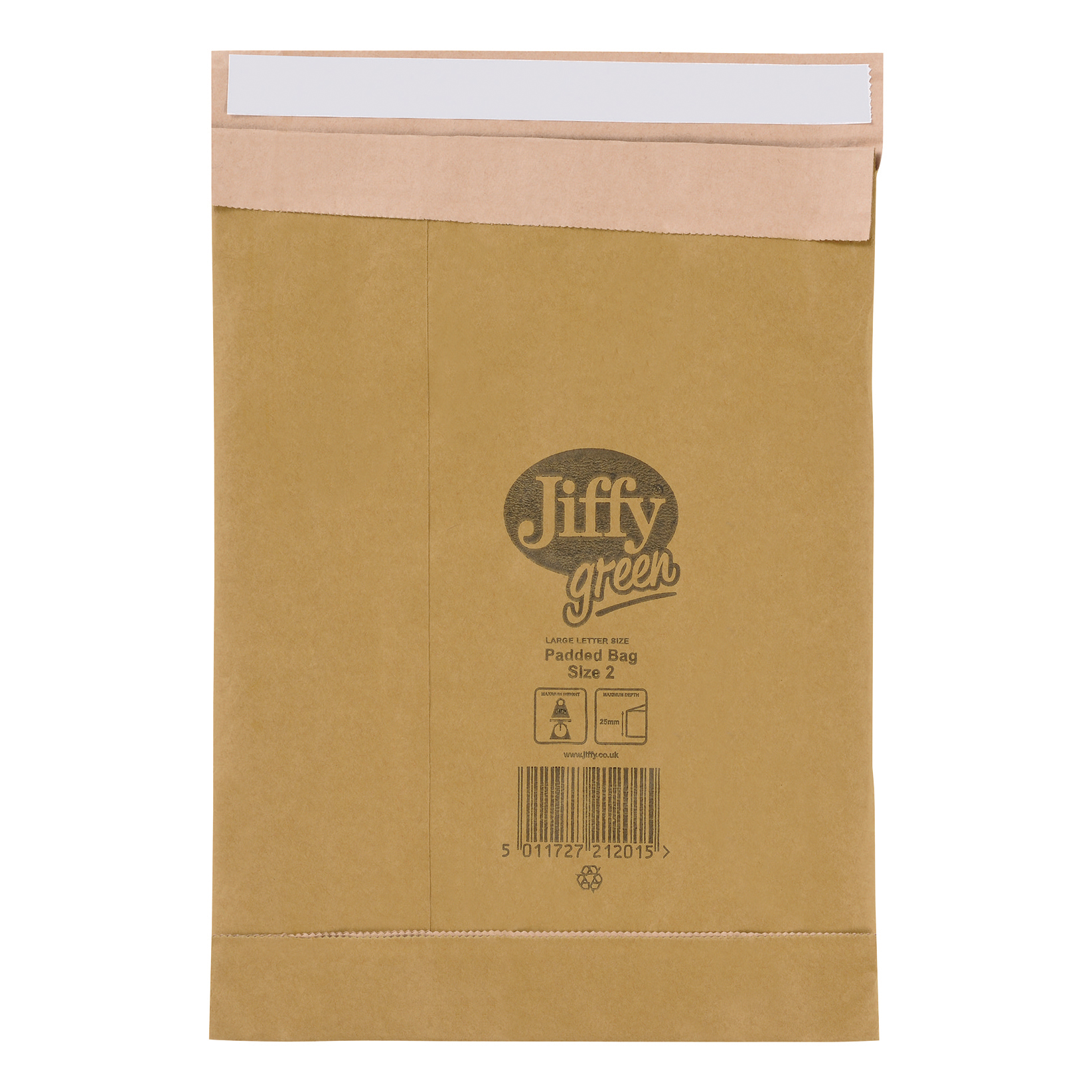 Jiffy Green Padded Bags Kraft and Recycled Paper Cushioning Size 8 442x661mm Ref 01903 Pack 25