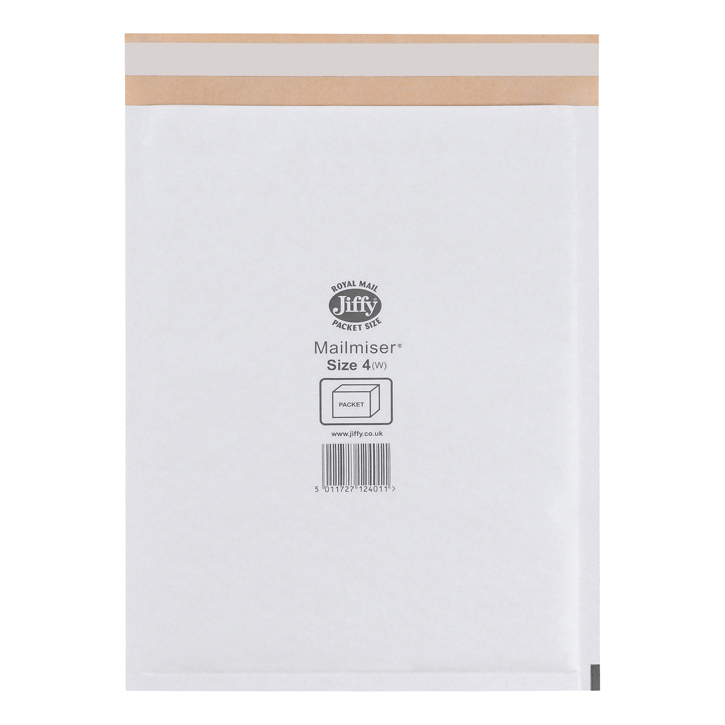 Jiffy Mailmiser Protective Envelopes Bubble-lined Size 4 P&S 240x320mm White Ref JMM-WH-4 Pack 50