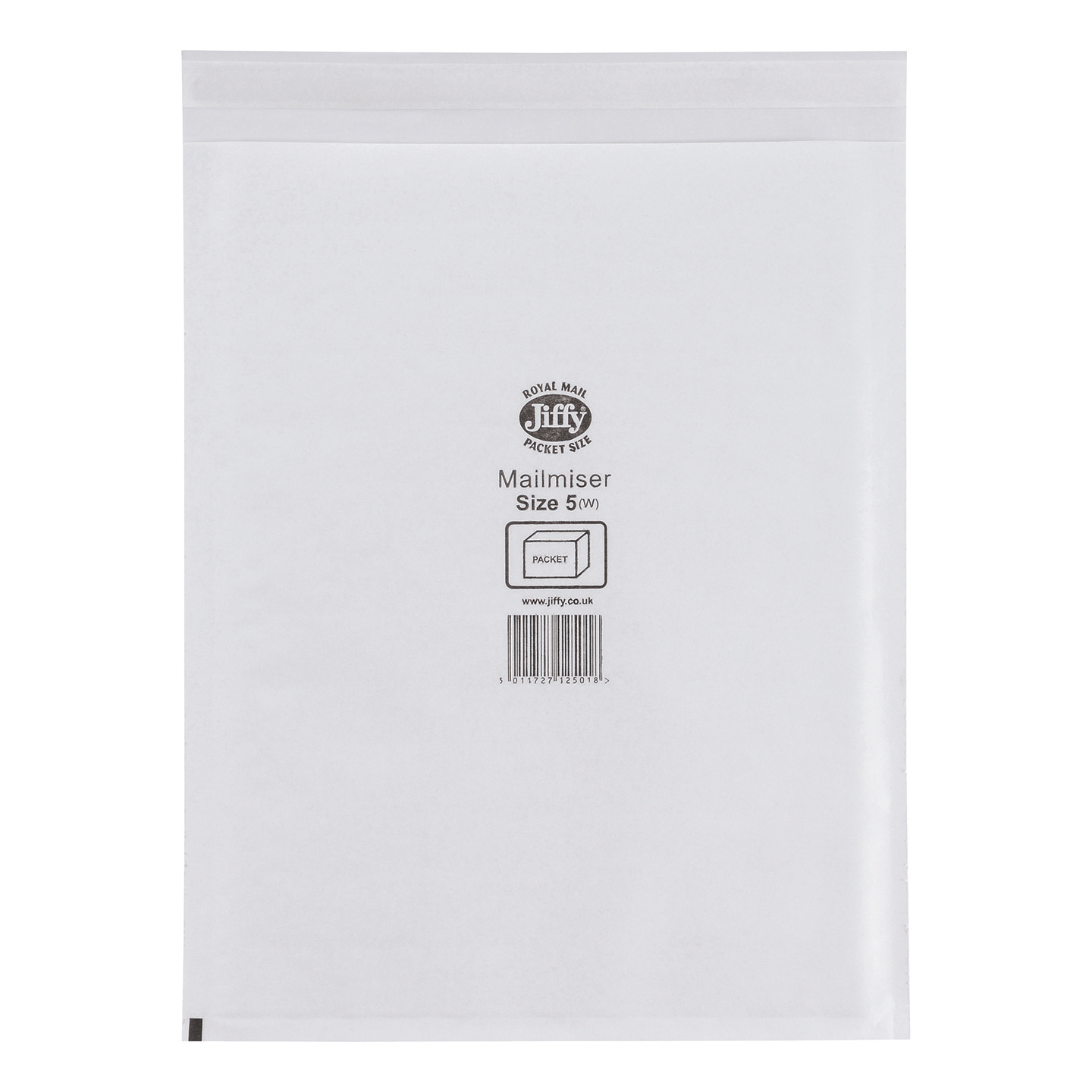 Jiffy Mailmiser Protective Envelopes Bubble-lined Size 5 260x345mm White Ref JMM-WH-5 [Pack 50]