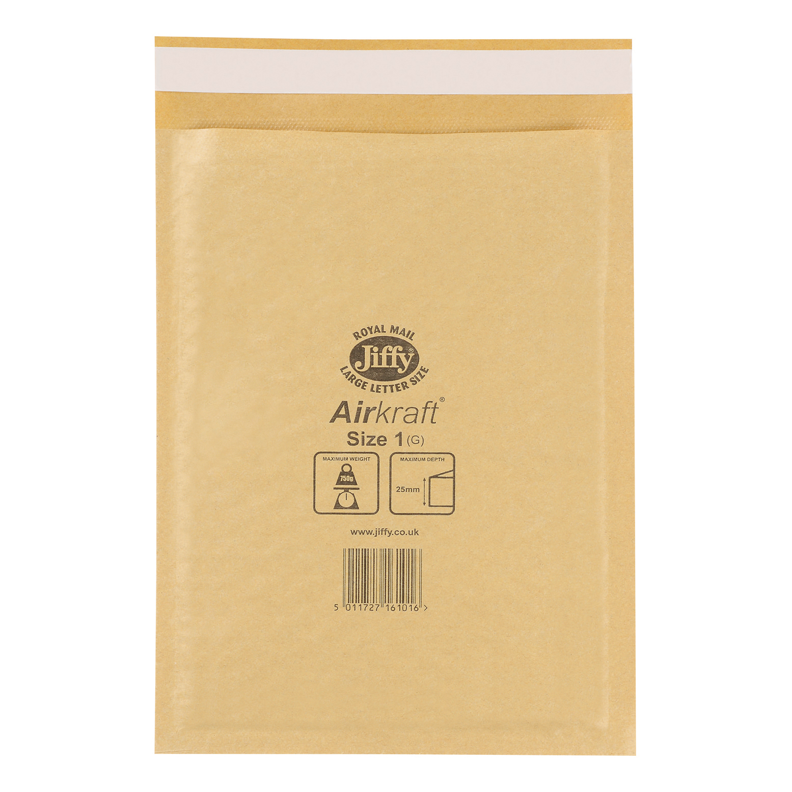 Padded Bags & Envelopes Jiffy Airkraft Bubble Bag Envelopes Size 1 170x245mm Gold Ref JL-GO-1 Pack 100