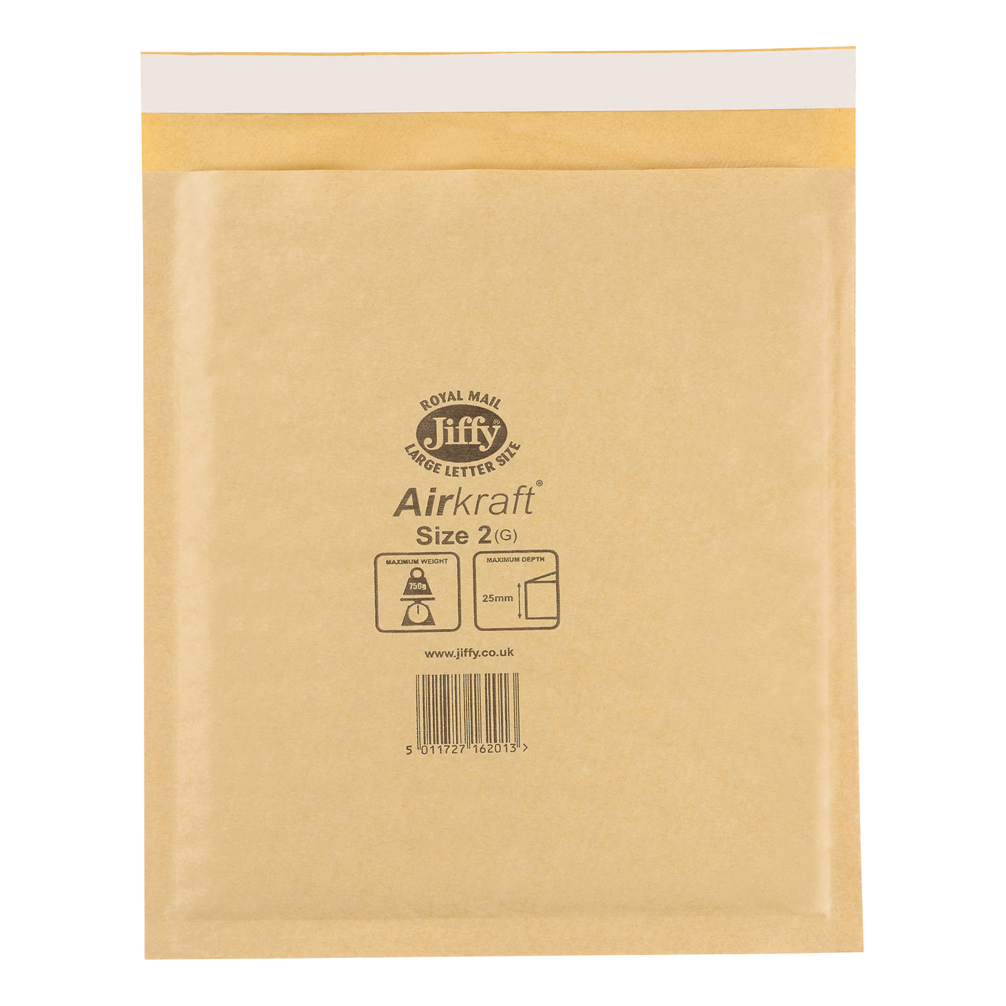 Jiffy Airkraft Bubble Bag Envelopes Size 2 205x245mm Gold Ref JL-GO-2 [Pack 100]