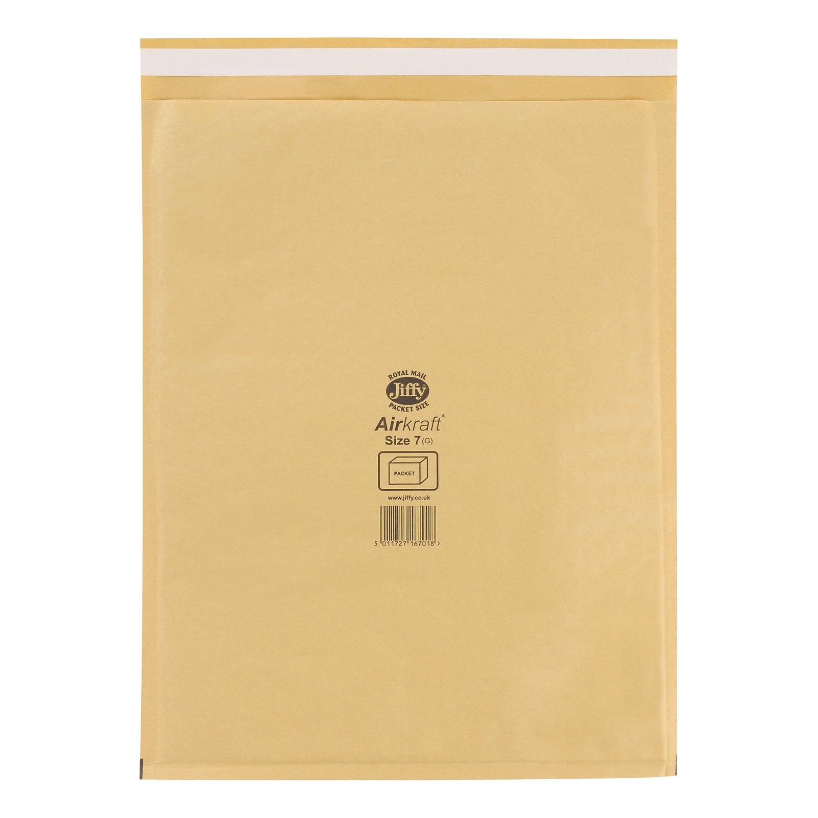 Padded Bags & Envelopes Jiffy Airkraft Bubble Bag Envelopes Size 7 Gold 340x445mm Ref JL-GO-7 Pack 50
