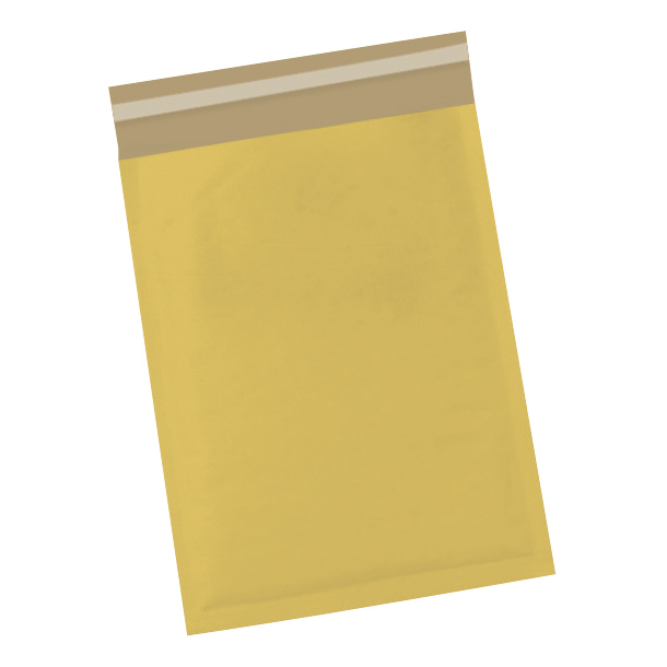 Padded Bags & Envelopes 5 Star Office Bubble Lined Bags Peel & Seal No.00 115x195mm Gold [Pack 100]