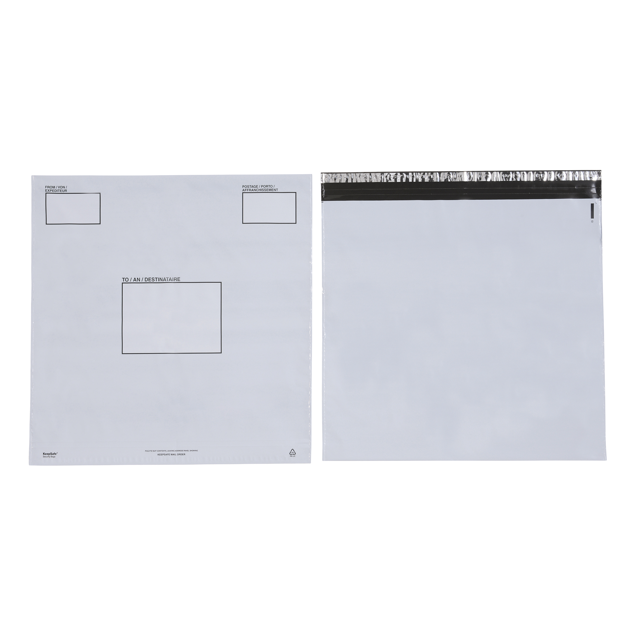 Keepsafe Envelope Extra Strong Polythene Opaque DX W460xH430mm Peel & Seal Ref KSV-MO6 Box 100