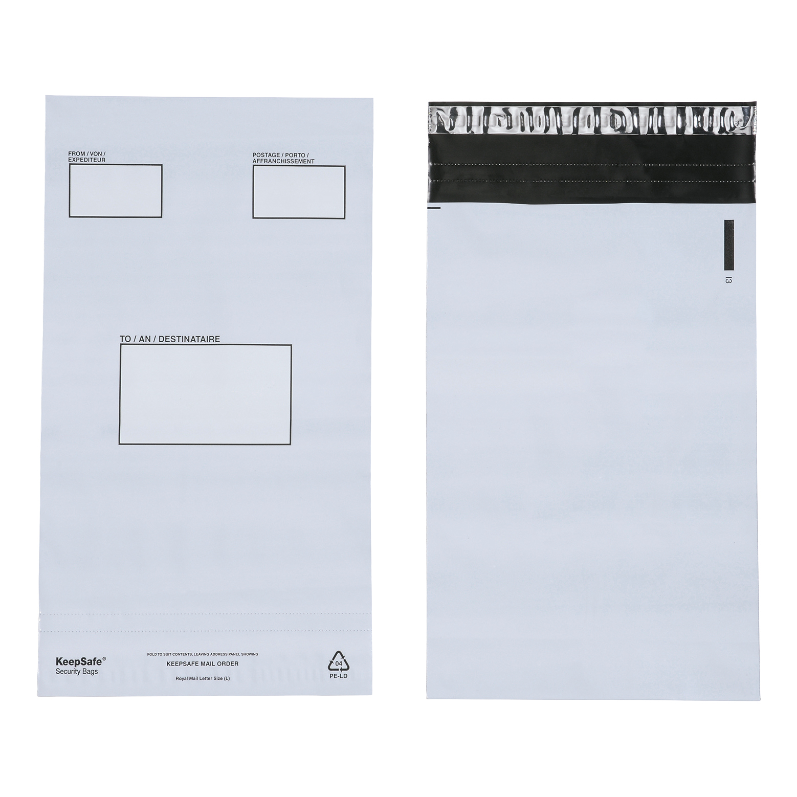Keepsafe Envelope Extra Strong Polythene Opaque C5 W165xH240mm Peel & Seal Ref KSV-MO1 Box 100