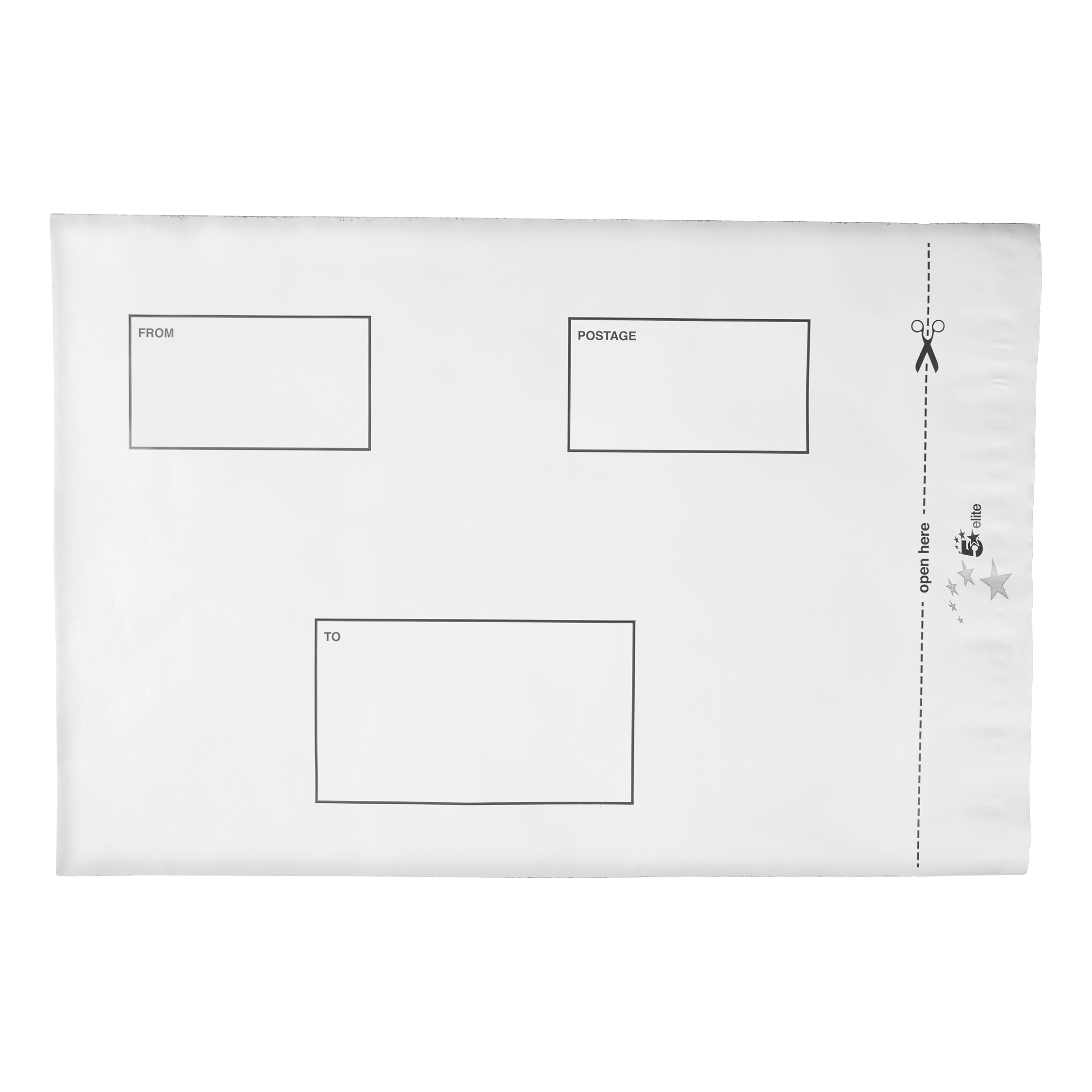 Polythene Envelopes 5 Star Elite Envelopes ExtraStrong Waterproof Polythene Peel & Seal Opaque 250x320mm&50mm Flap [Pack 100]