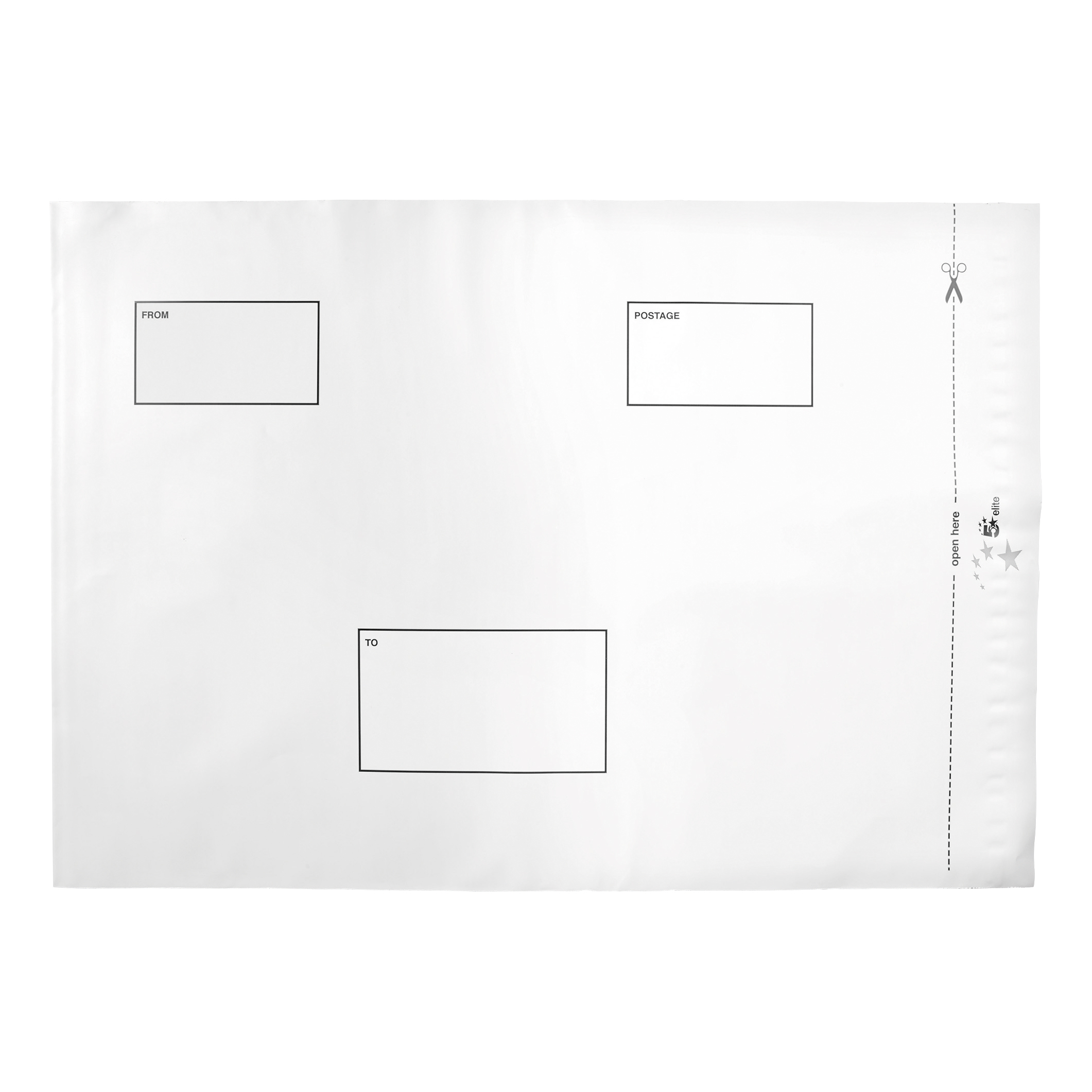 Polythene Envelopes 5 Star Elite Envelopes ExtraStrong Waterproof Polythene Peel & Seal Opaque 335x435mm&50mm Flap [Pack 100]