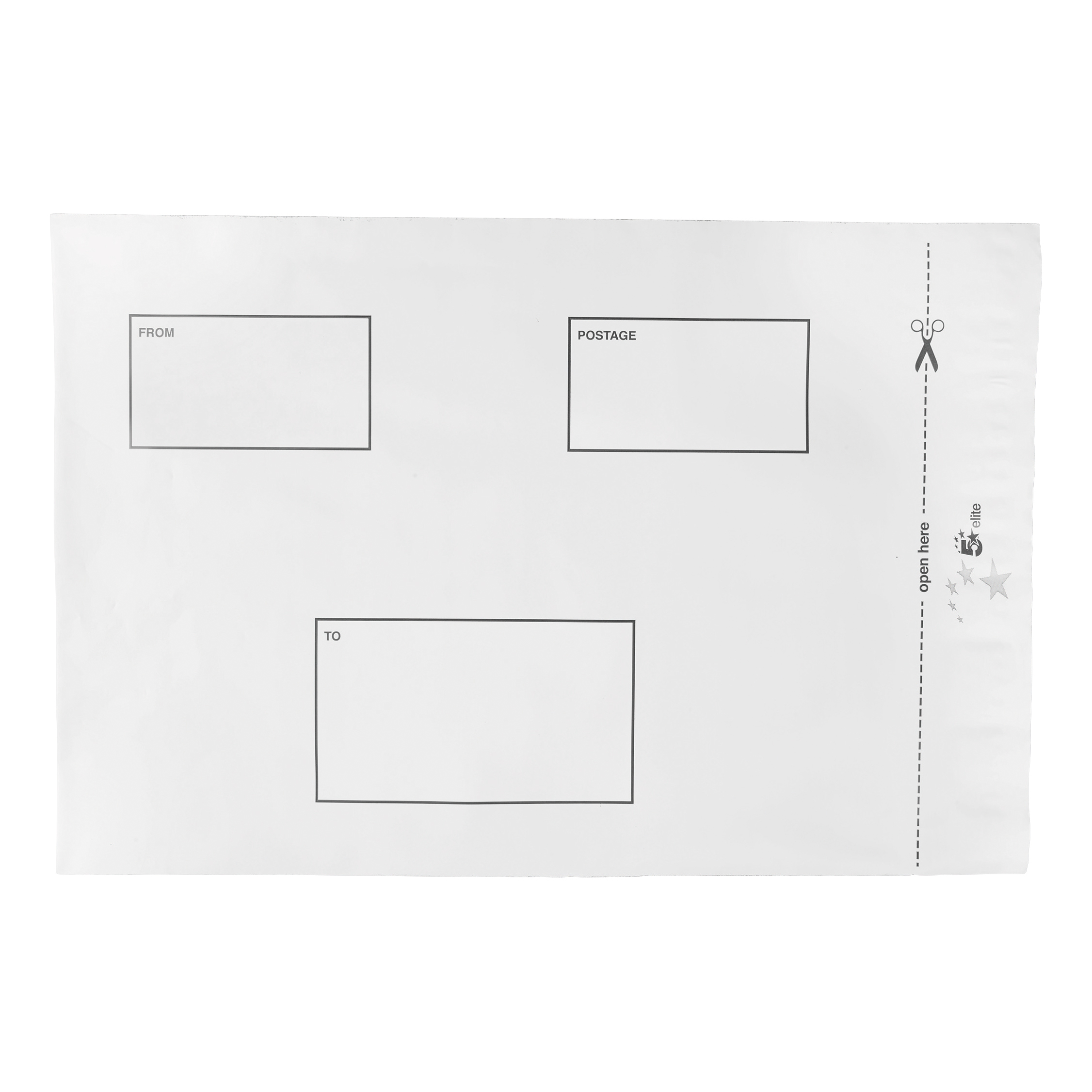 Polythene Envelopes 5 Star Elite DX Bags Self Seal Waterproof White 250x320mm &50mm Flap [Pack 100]
