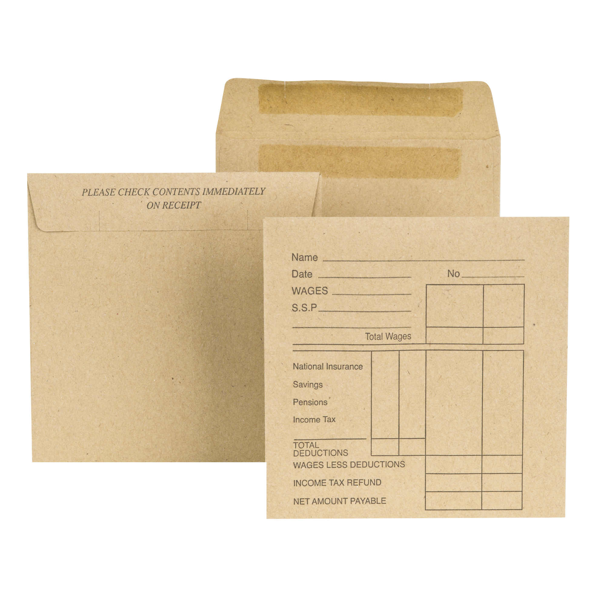 New Guardian Wage Envelopes Self Seal 108x102mm 80gsm Medium Printed Pocket Manilla Pack 1000
