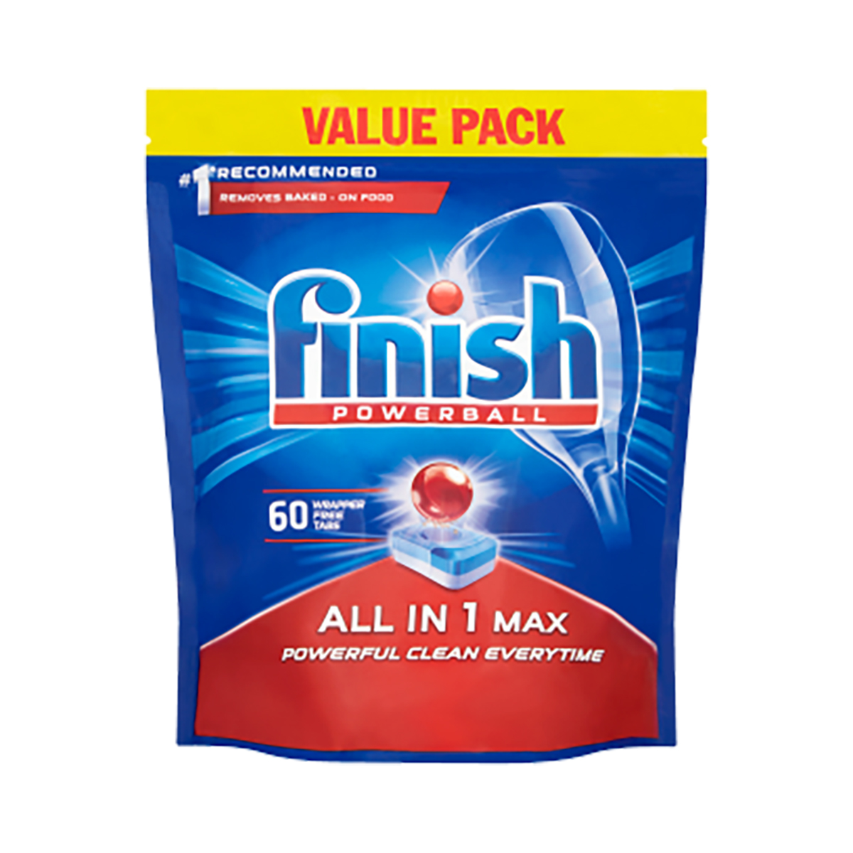 Dishwashing products Finish Dishwasher Powerball Tablets All-in-1 Ref RB797730 [Pack 60]